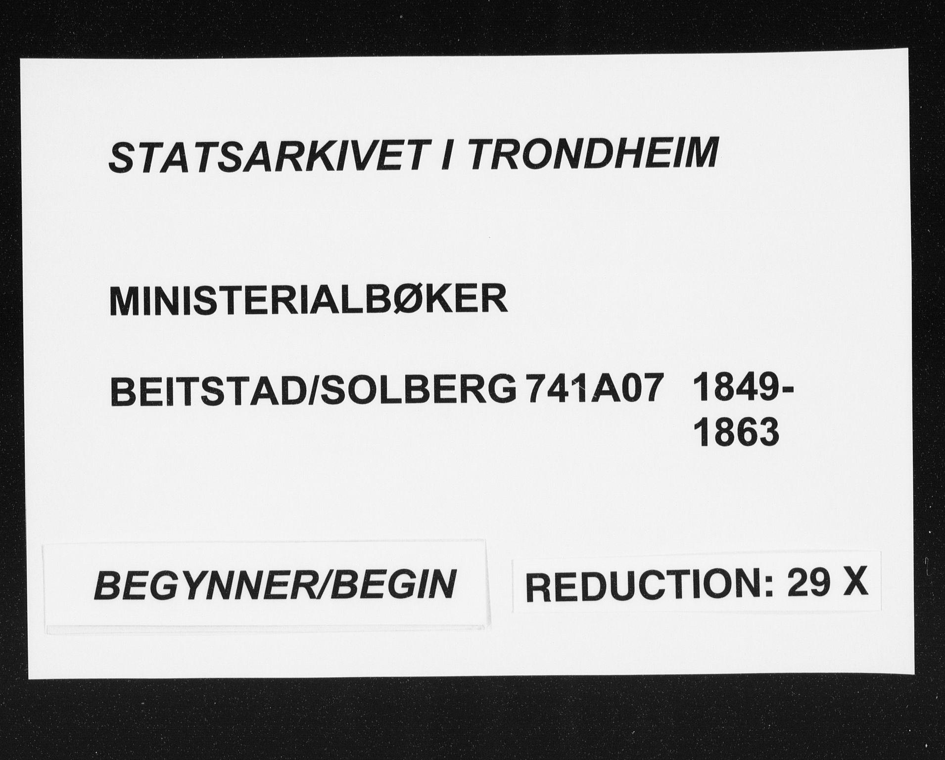 SAT, Ministerialprotokoller, klokkerbøker og fødselsregistre - Nord-Trøndelag, 741/L0393: Ministerialbok nr. 741A07, 1849-1863