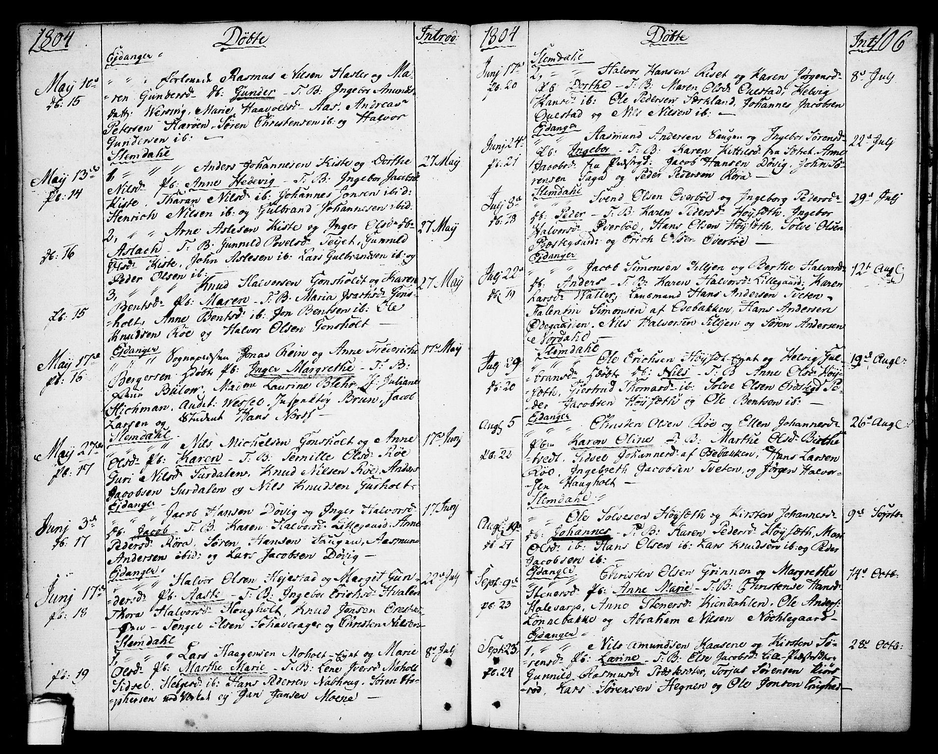 SAKO, Eidanger kirkebøker, F/Fa/L0006: Ministerialbok nr. 6, 1764-1814, s. 106