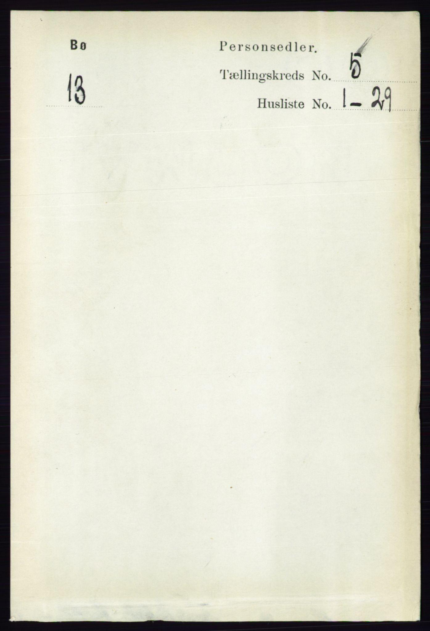RA, Folketelling 1891 for 0821 Bø herred, 1891, s. 1418