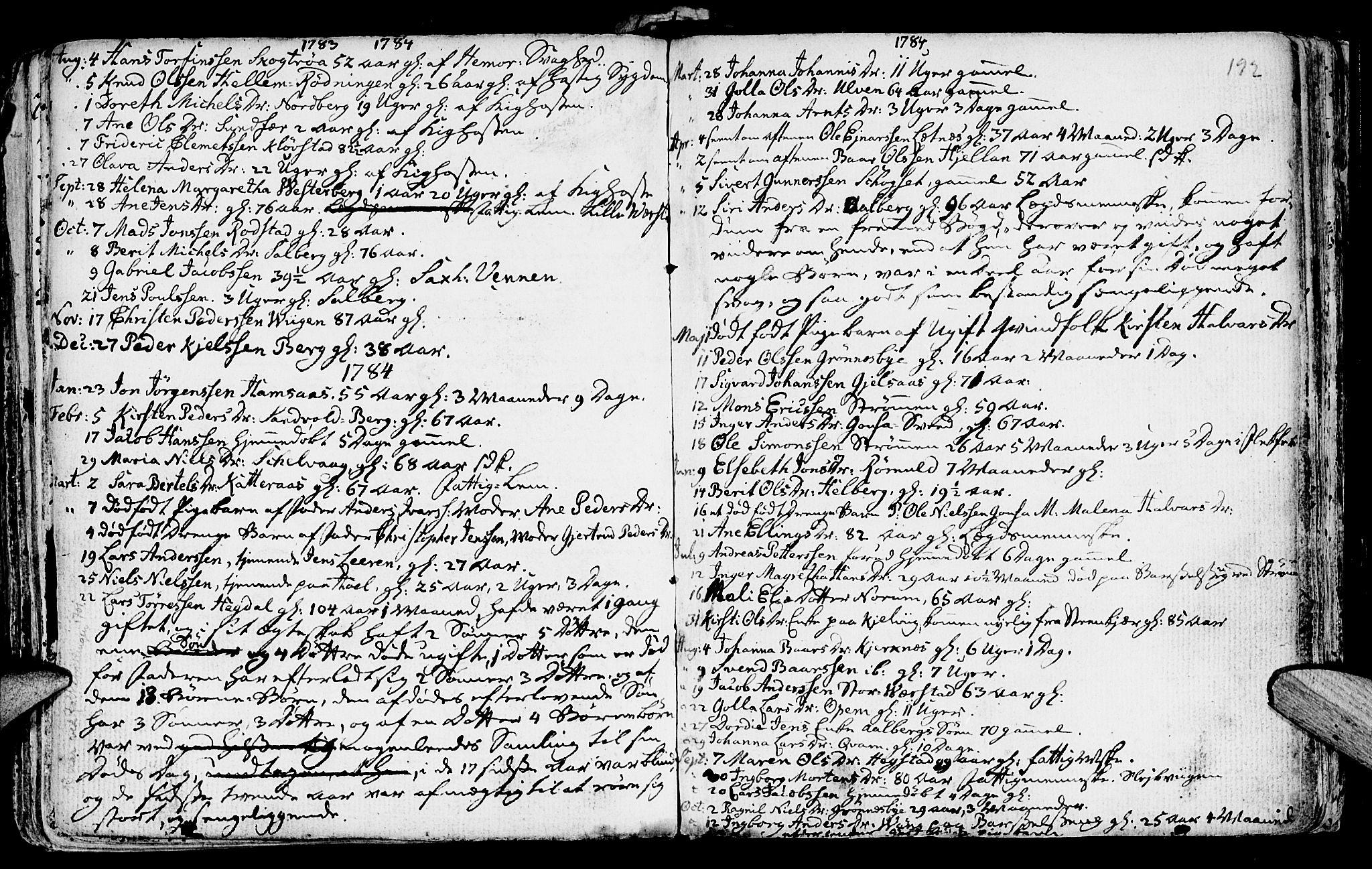 SAT, Ministerialprotokoller, klokkerbøker og fødselsregistre - Nord-Trøndelag, 730/L0273: Ministerialbok nr. 730A02, 1762-1802, s. 192