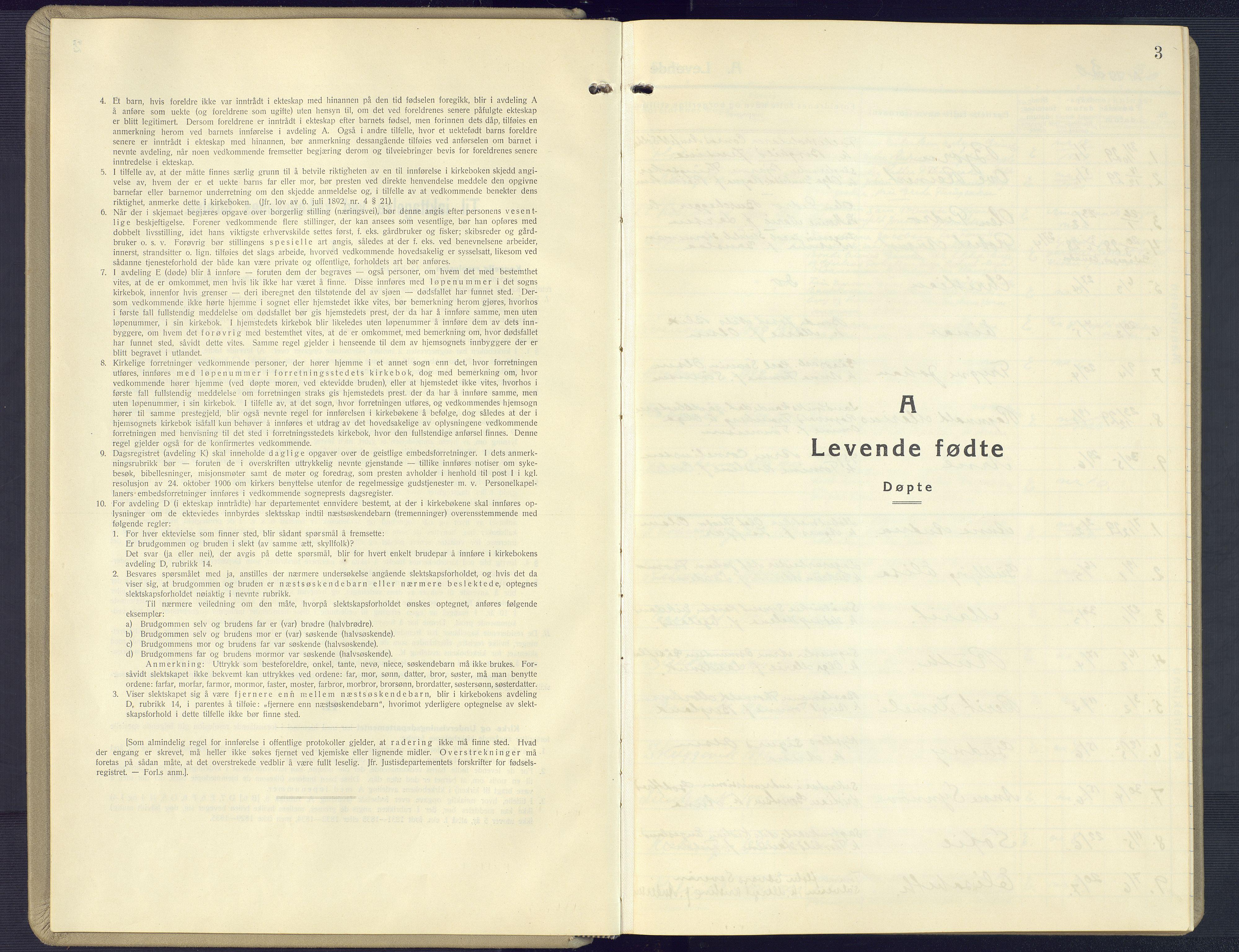 SAK, Vestre Moland sokneprestkontor, F/Fb/Fbb/L0008: Klokkerbok nr. B 8, 1930-1966, s. 3