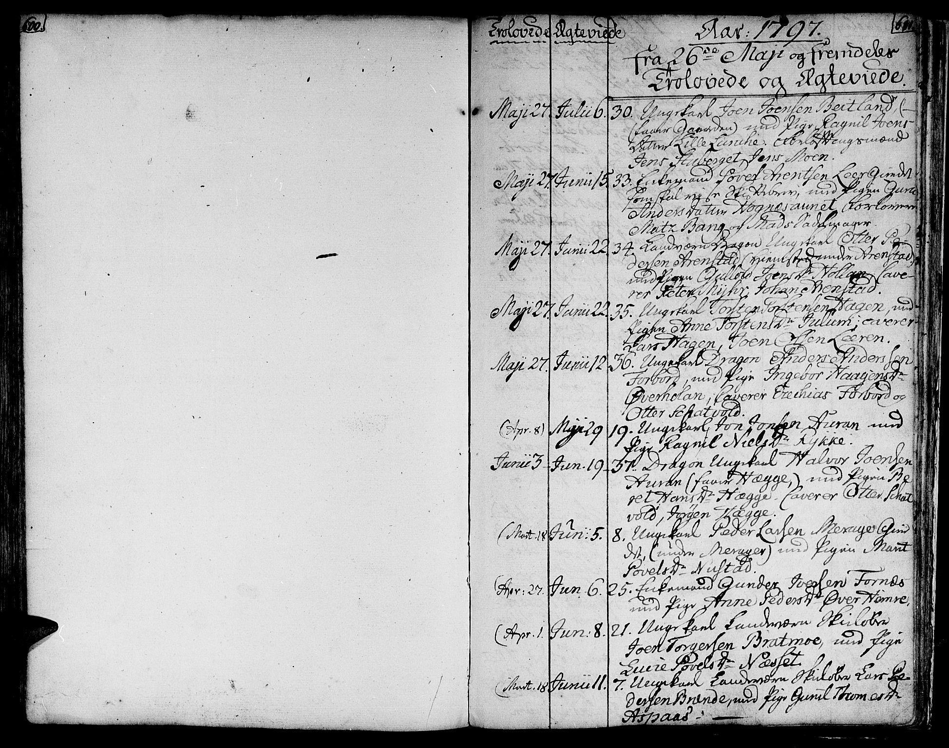 SAT, Ministerialprotokoller, klokkerbøker og fødselsregistre - Nord-Trøndelag, 709/L0060: Ministerialbok nr. 709A07, 1797-1815, s. 600-601