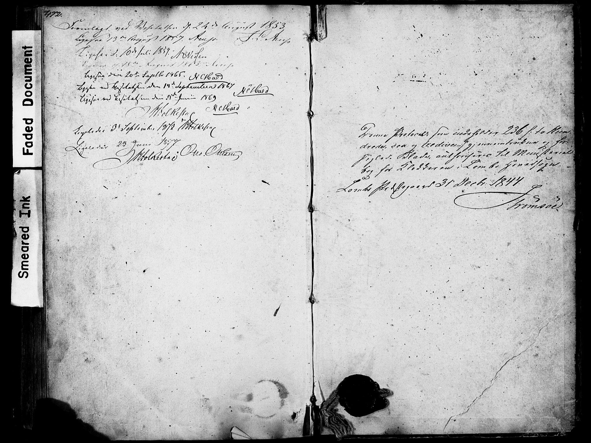 SAH, Lom prestekontor, L/L0012: Klokkerbok nr. 12, 1845-1873