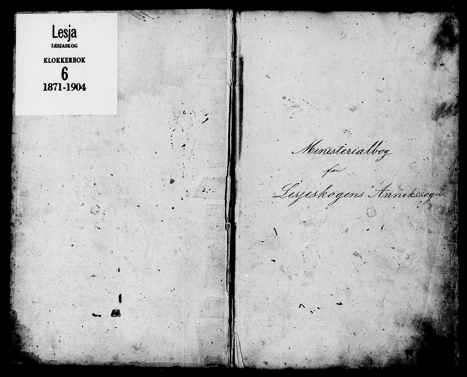 SAH, Lesja prestekontor, Klokkerbok nr. 6, 1871-1904