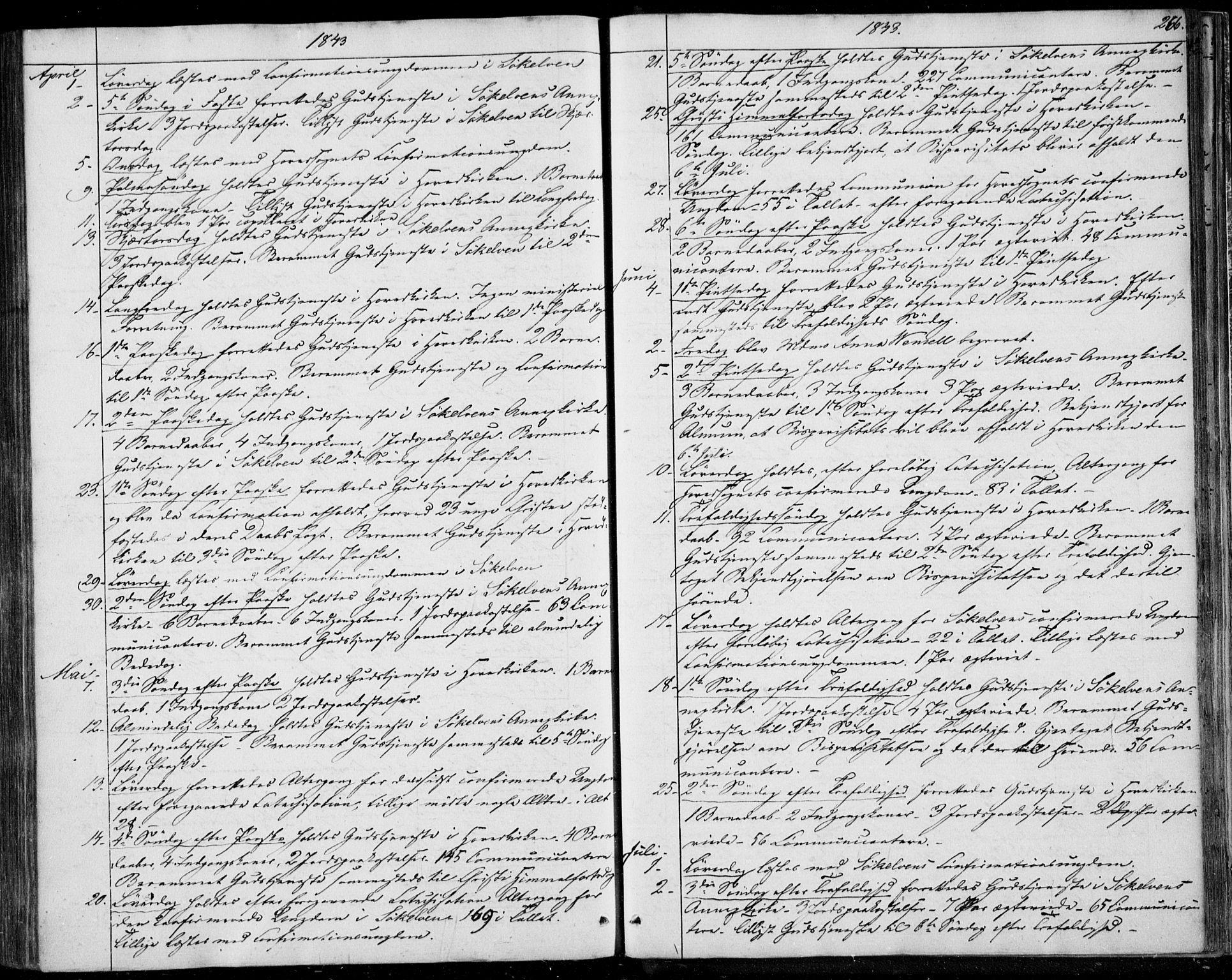 SAT, Ministerialprotokoller, klokkerbøker og fødselsregistre - Møre og Romsdal, 522/L0312: Ministerialbok nr. 522A07, 1843-1851, s. 266
