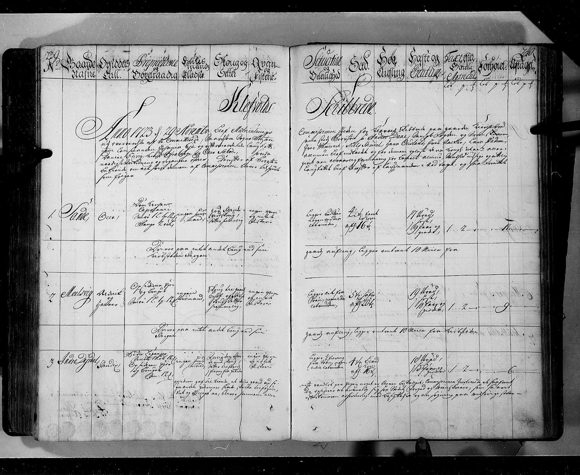 RA, Rentekammeret inntil 1814, Realistisk ordnet avdeling, N/Nb/Nbf/L0143: Ytre og Indre Sogn eksaminasjonsprotokoll, 1723, s. 239-240