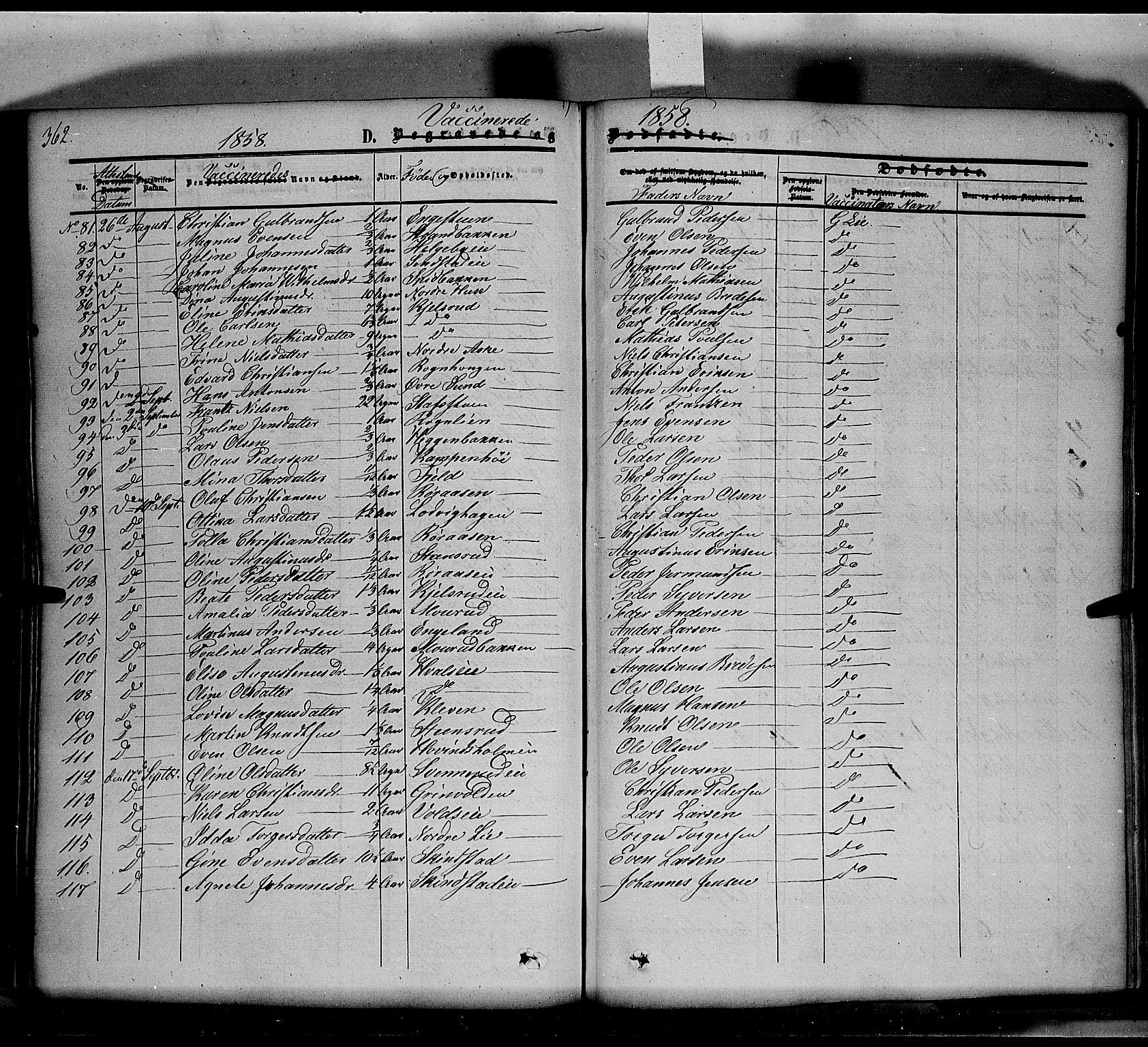SAH, Nes prestekontor, K/Ka/L0004: Ministerialbok nr. 4, 1852-1886, s. 362