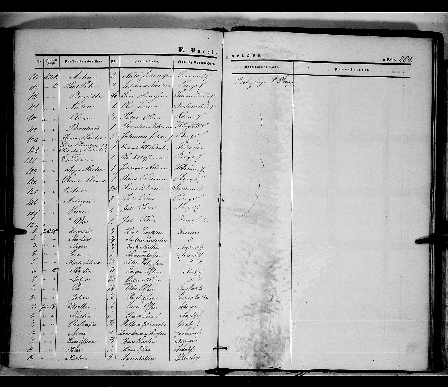 SAH, Land prestekontor, Ministerialbok nr. 9, 1847-1859, s. 204