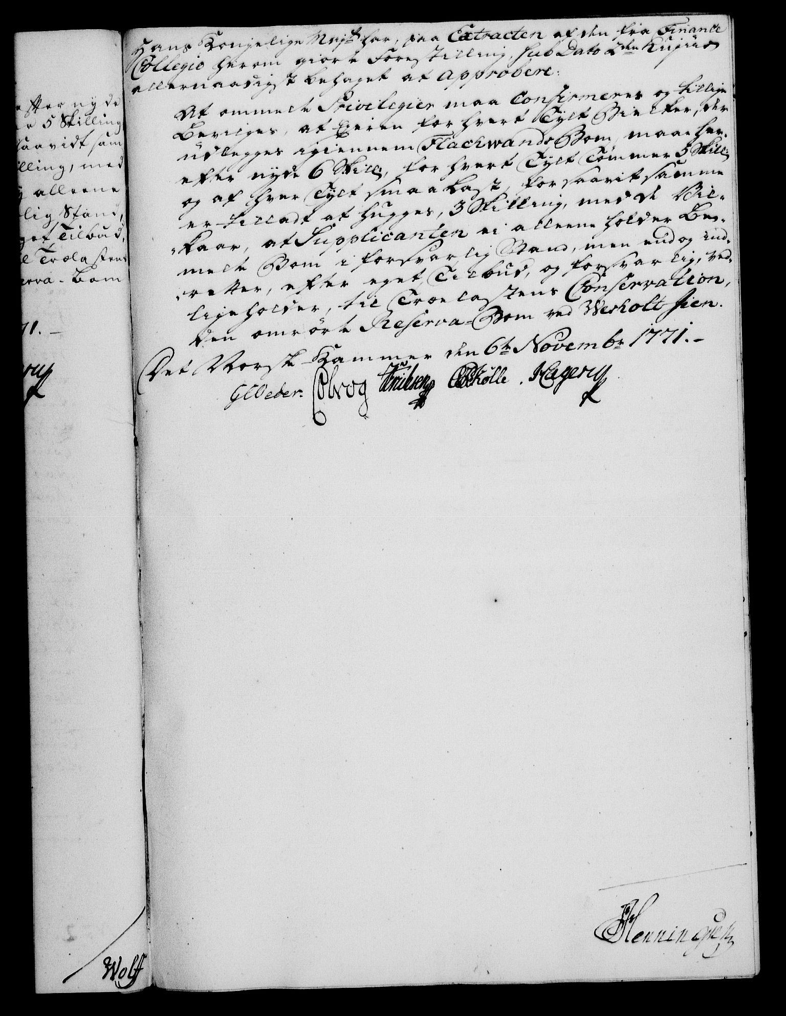 RA, Rentekammeret, Kammerkanselliet, G/Gf/Gfa/L0054: Norsk relasjons- og resolusjonsprotokoll (merket RK 52.54), 1771-1772, s. 172