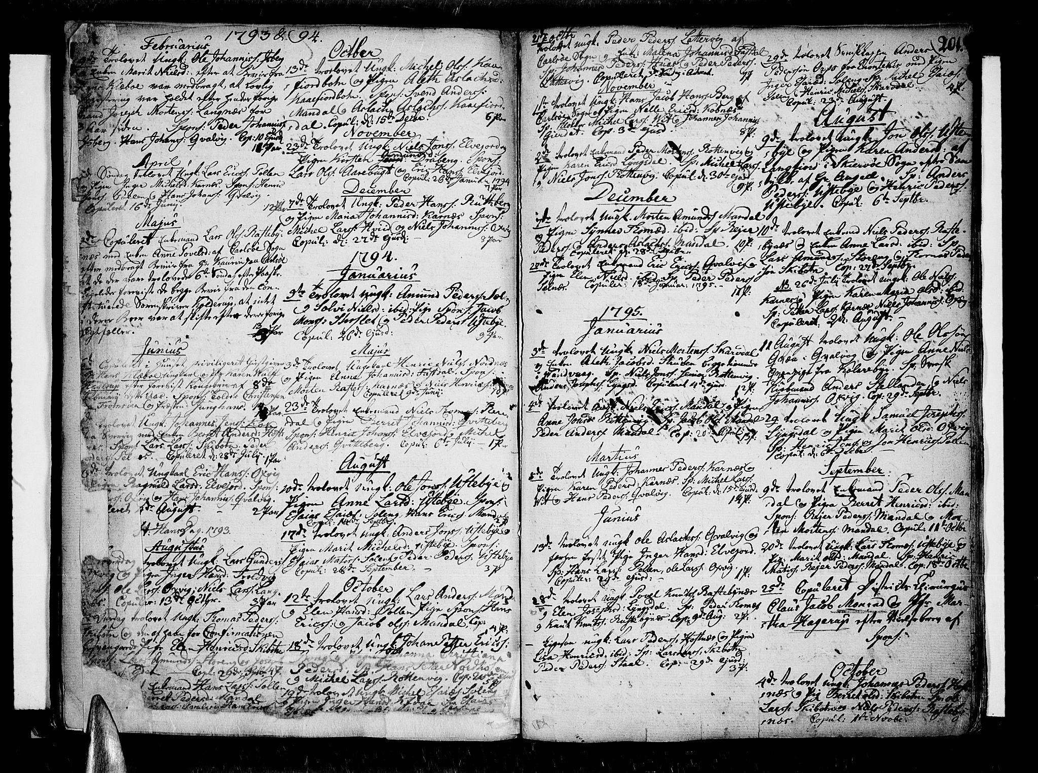SATØ, Lyngen sokneprestembete, Ministerialbok nr. 2, 1785-1840, s. 201