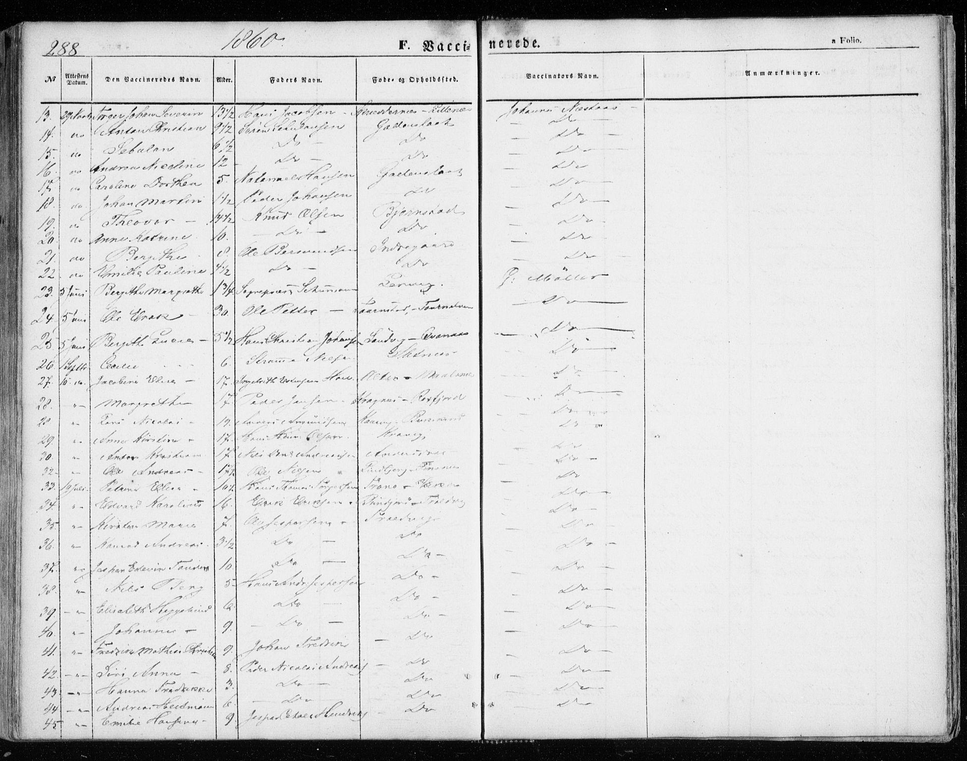 SATØ, Lenvik sokneprestembete, H/Ha: Ministerialbok nr. 7, 1855-1865, s. 288