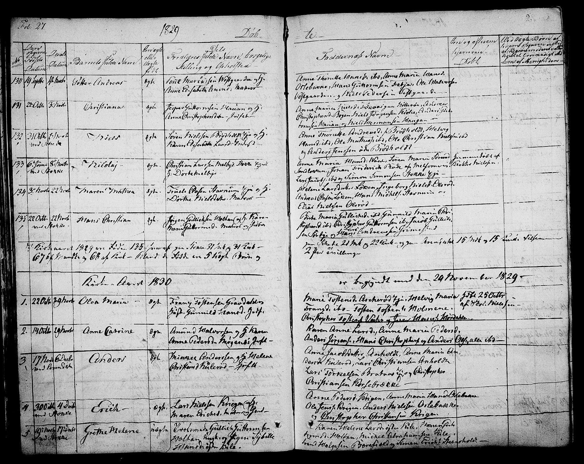 SAKO, Stokke kirkebøker, F/Fa/L0006: Ministerialbok nr. I 6, 1826-1843, s. 27