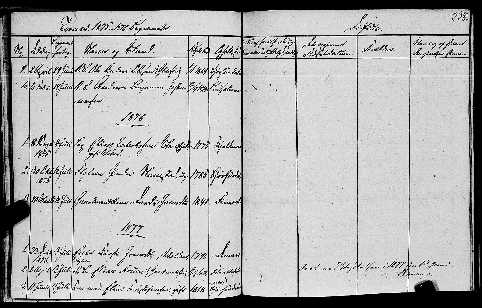 SAT, Ministerialprotokoller, klokkerbøker og fødselsregistre - Nord-Trøndelag, 762/L0538: Ministerialbok nr. 762A02 /2, 1833-1879, s. 238