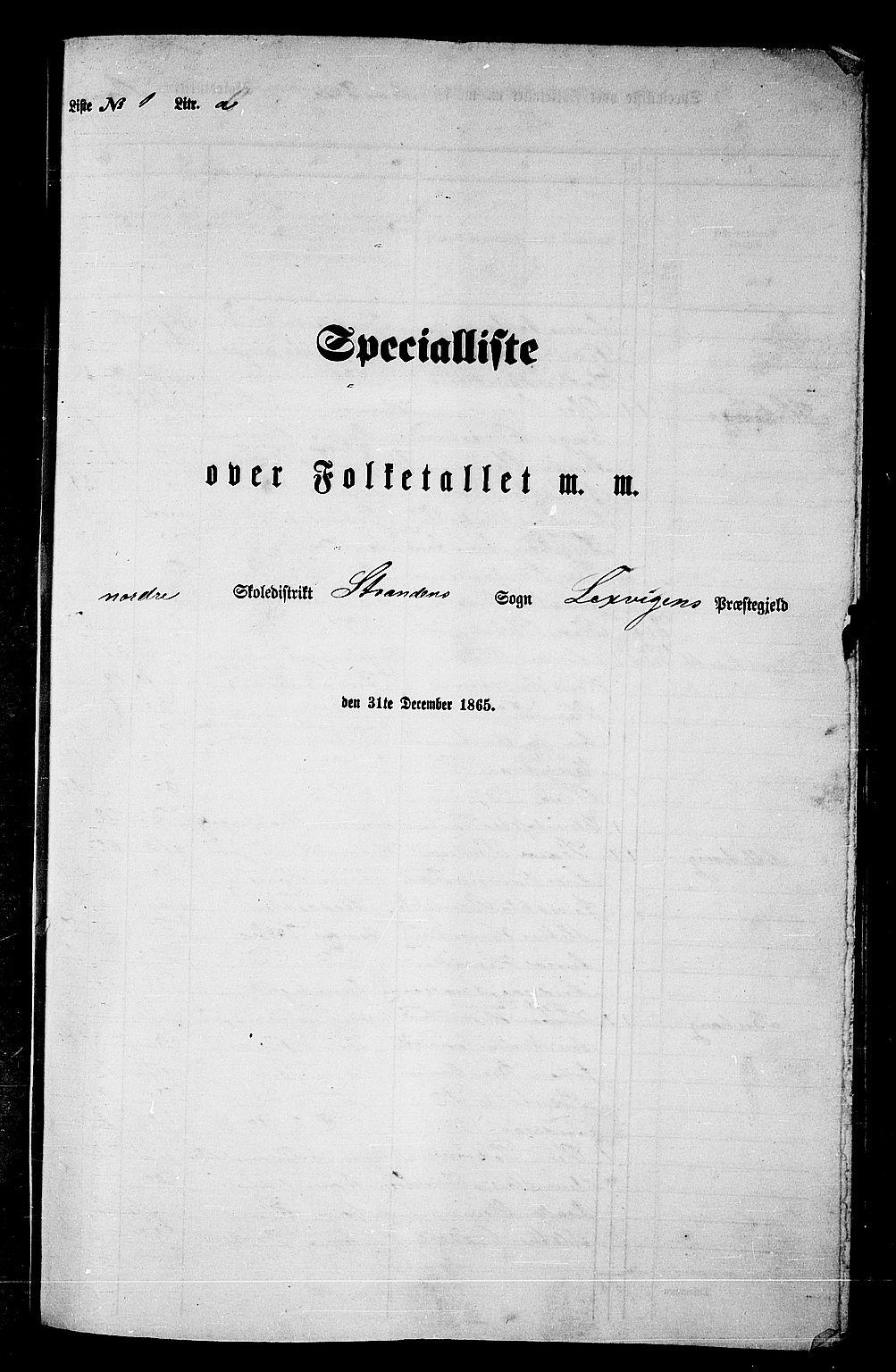 RA, Folketelling 1865 for 1718P Leksvik prestegjeld, 1865, s. 24