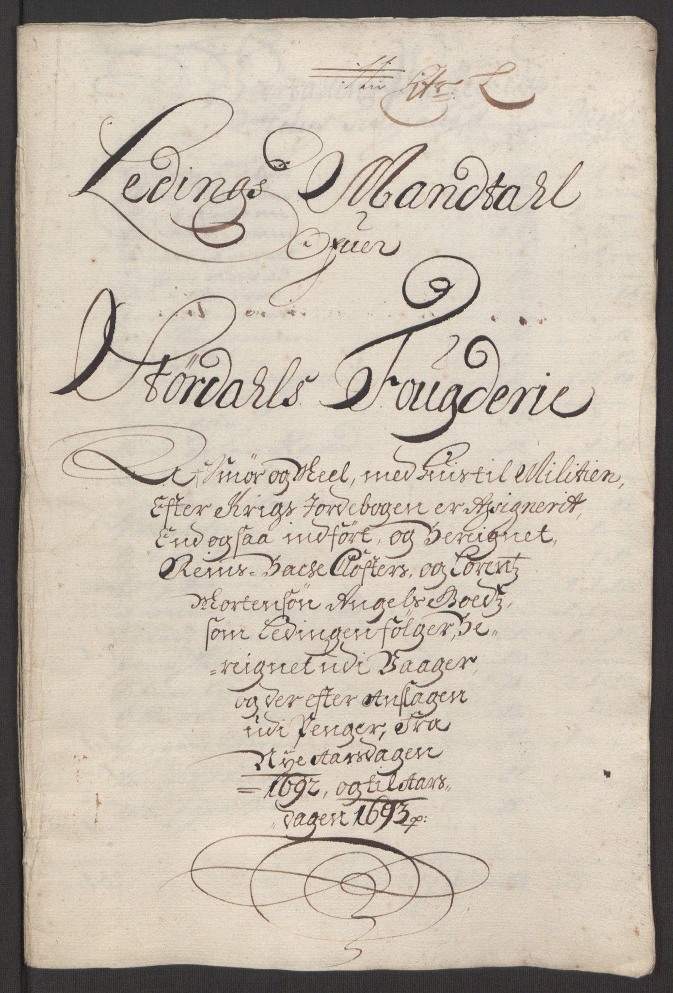 RA, Rentekammeret inntil 1814, Reviderte regnskaper, Fogderegnskap, R62/L4185: Fogderegnskap Stjørdal og Verdal, 1692, s. 179