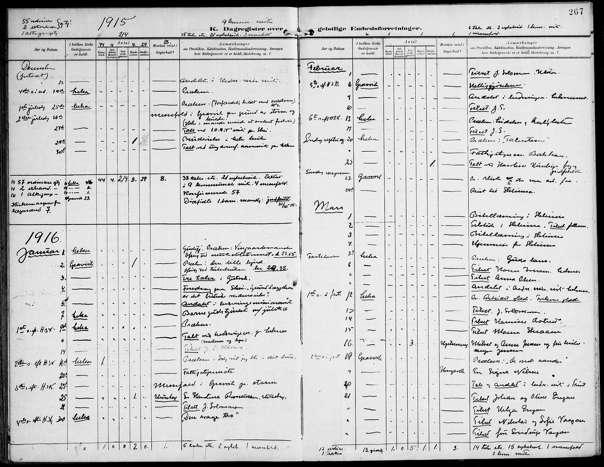 SAT, Ministerialprotokoller, klokkerbøker og fødselsregistre - Nord-Trøndelag, 788/L0698: Ministerialbok nr. 788A05, 1902-1921, s. 267
