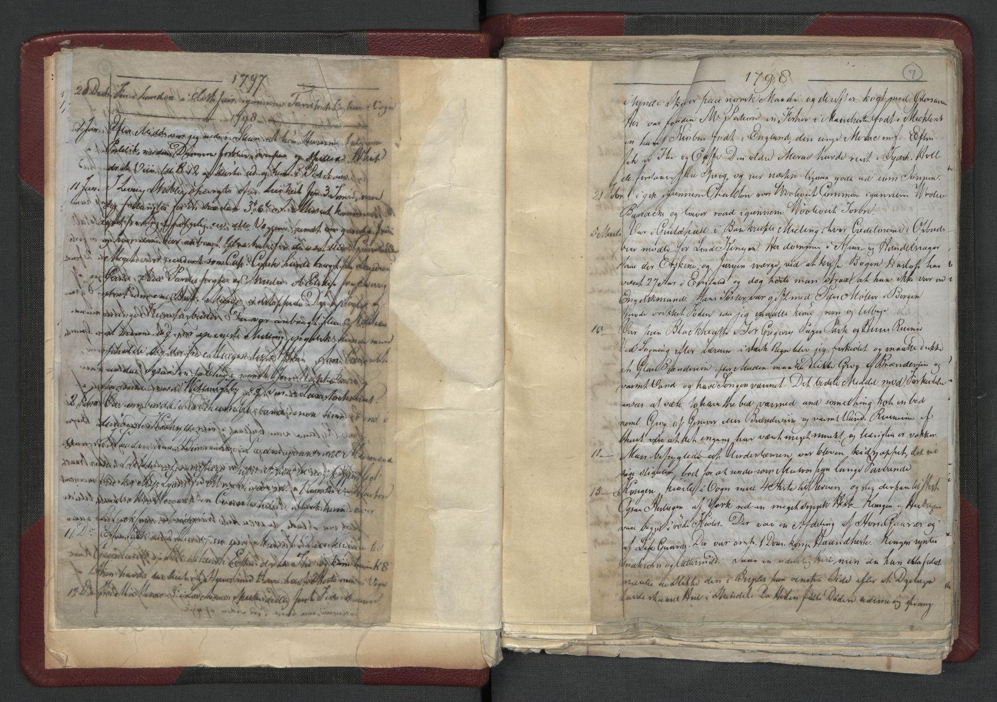 RA, Meltzer, Fredrik, F/L0001: Dagbok for årene 1796-1808, 1811, 1817, 1796-1817, s. 6b-7a
