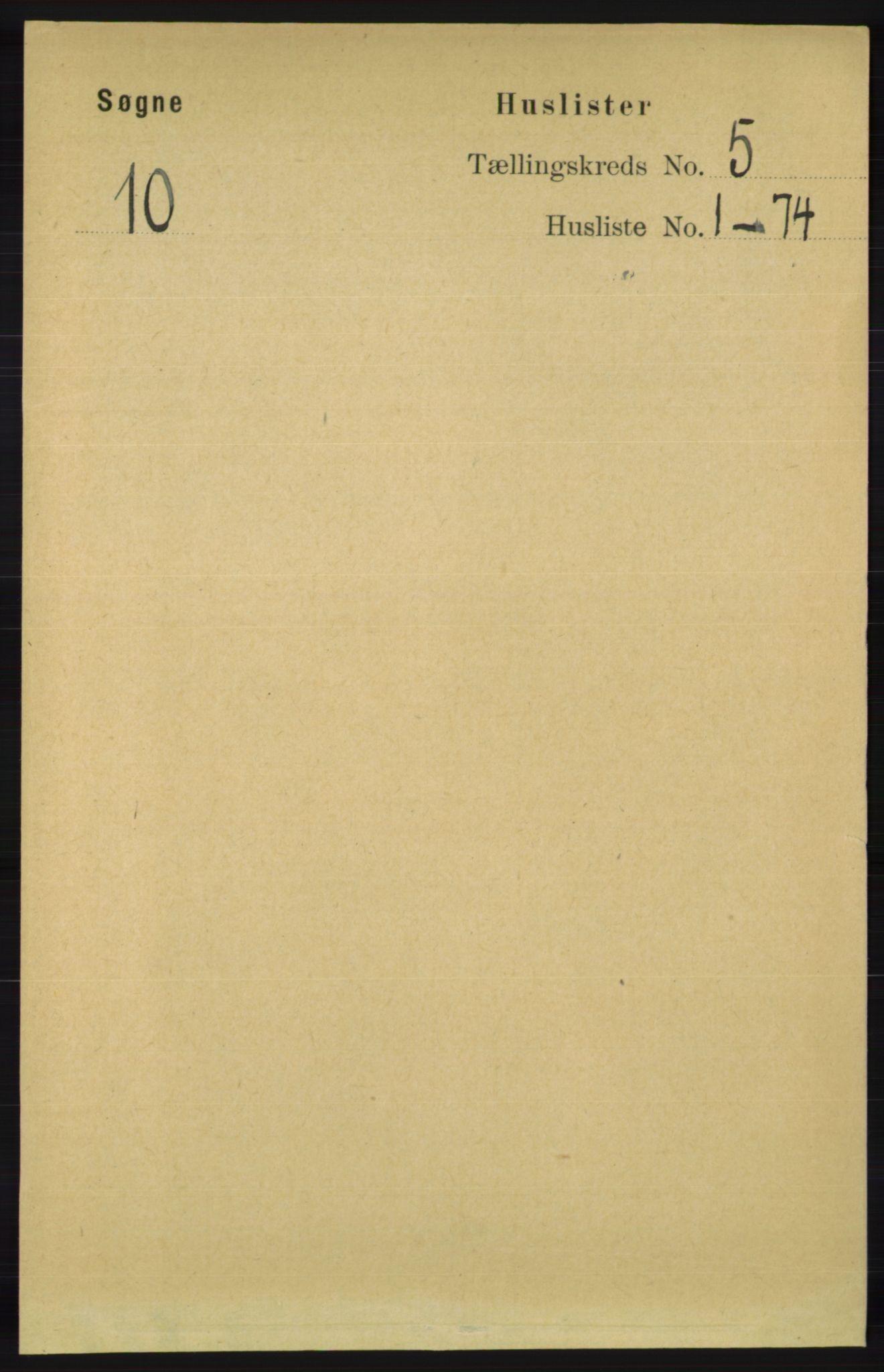 RA, Folketelling 1891 for 1018 Søgne herred, 1891, s. 830