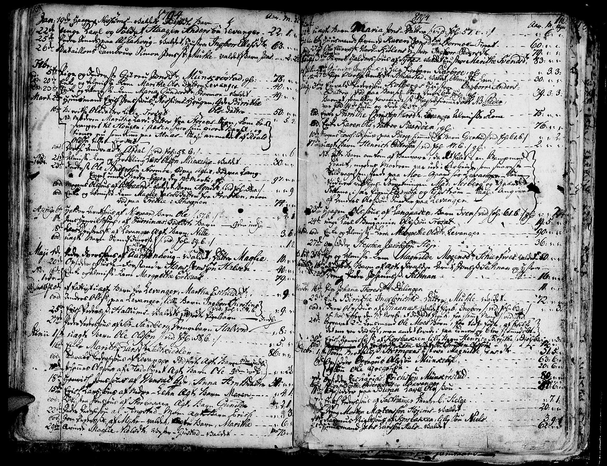 SAT, Ministerialprotokoller, klokkerbøker og fødselsregistre - Nord-Trøndelag, 717/L0142: Ministerialbok nr. 717A02 /1, 1783-1809, s. 116