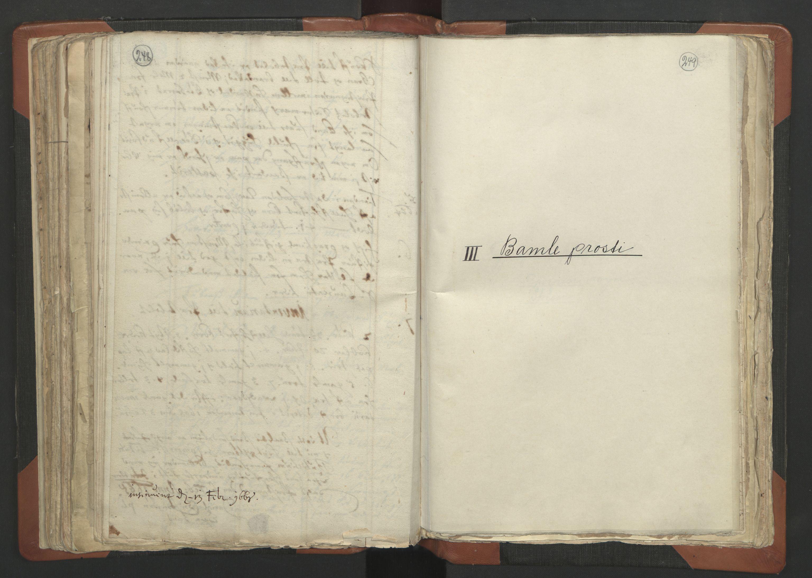 RA, Sogneprestenes manntall 1664-1666, nr. 12: Øvre Telemark prosti, Nedre Telemark prosti og Bamble prosti, 1664-1666, s. 248-249