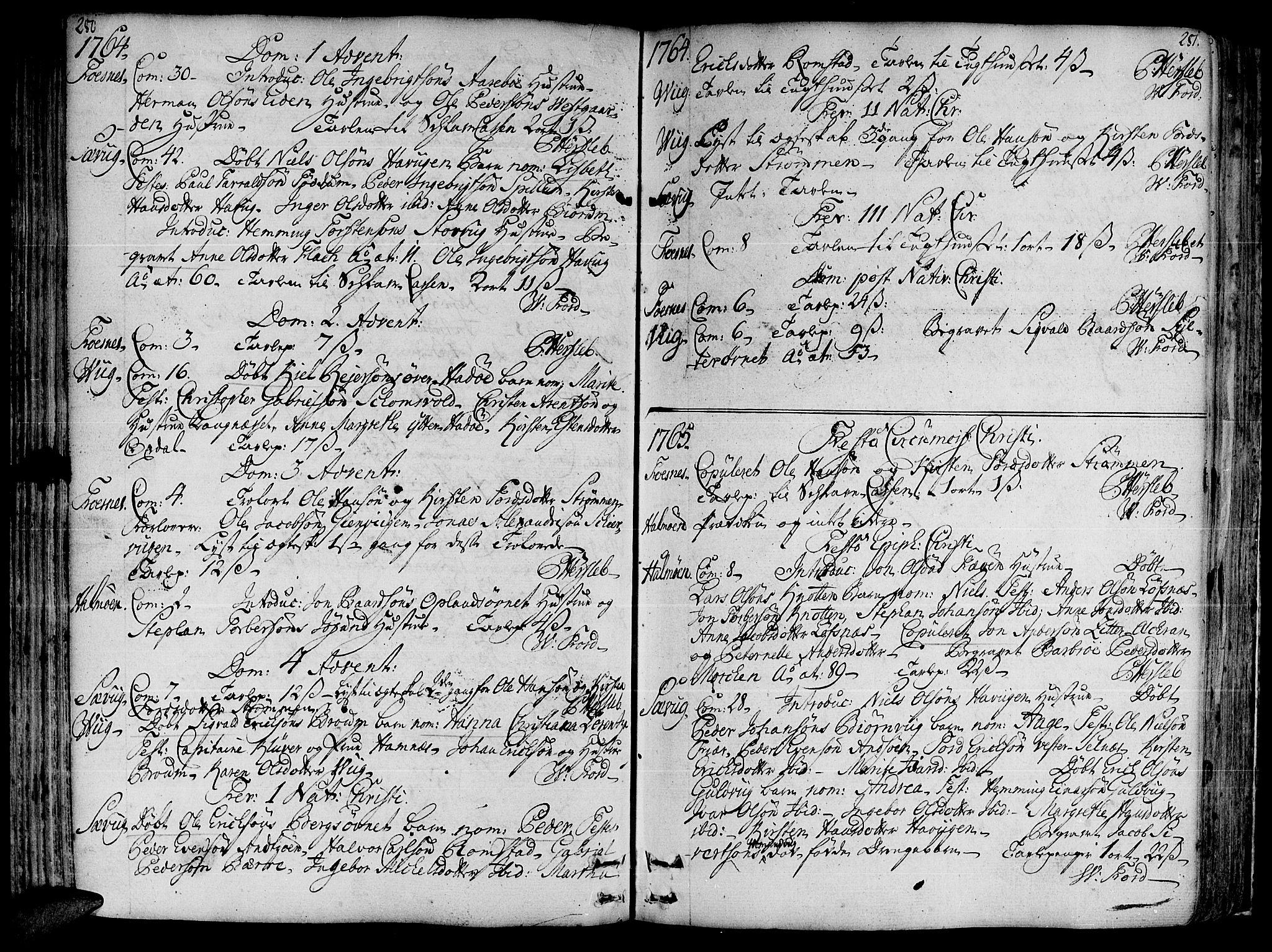 SAT, Ministerialprotokoller, klokkerbøker og fødselsregistre - Nord-Trøndelag, 773/L0607: Ministerialbok nr. 773A01, 1751-1783, s. 280-281