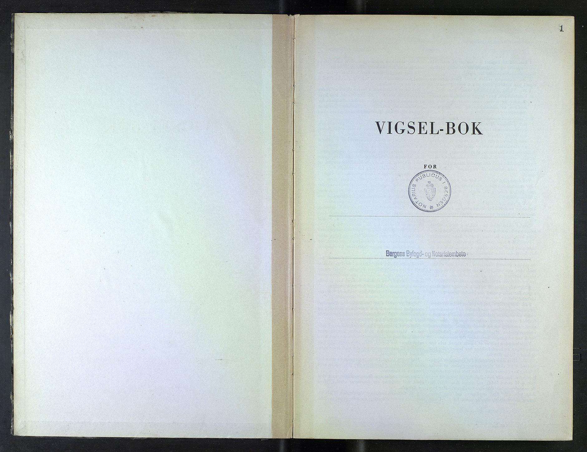 SAB, Bergen byfogd og byskriver*, 1944-1945, s. 1