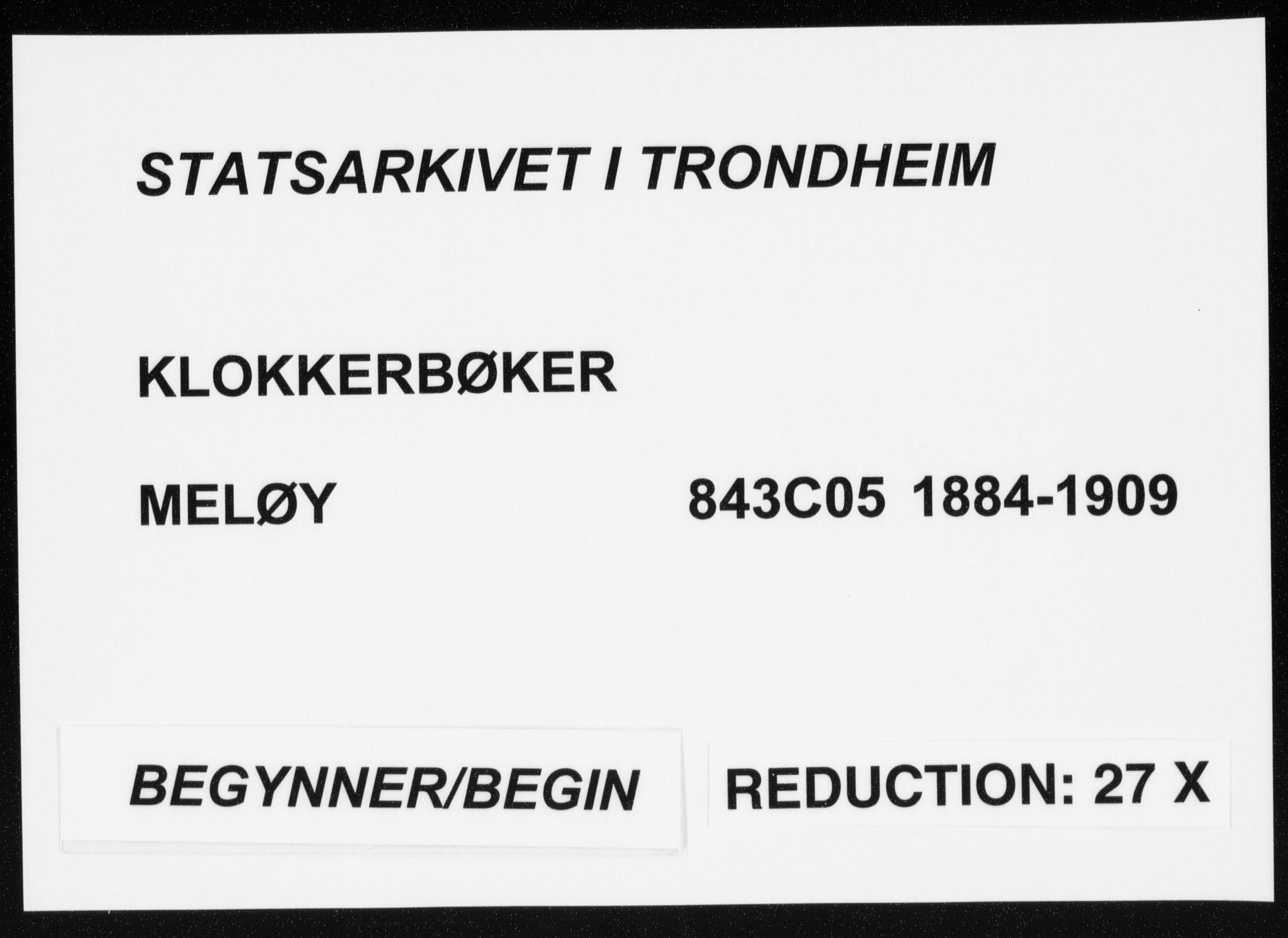 SAT, Ministerialprotokoller, klokkerbøker og fødselsregistre - Nordland, 843/L0636: Klokkerbok nr. 843C05, 1884-1909