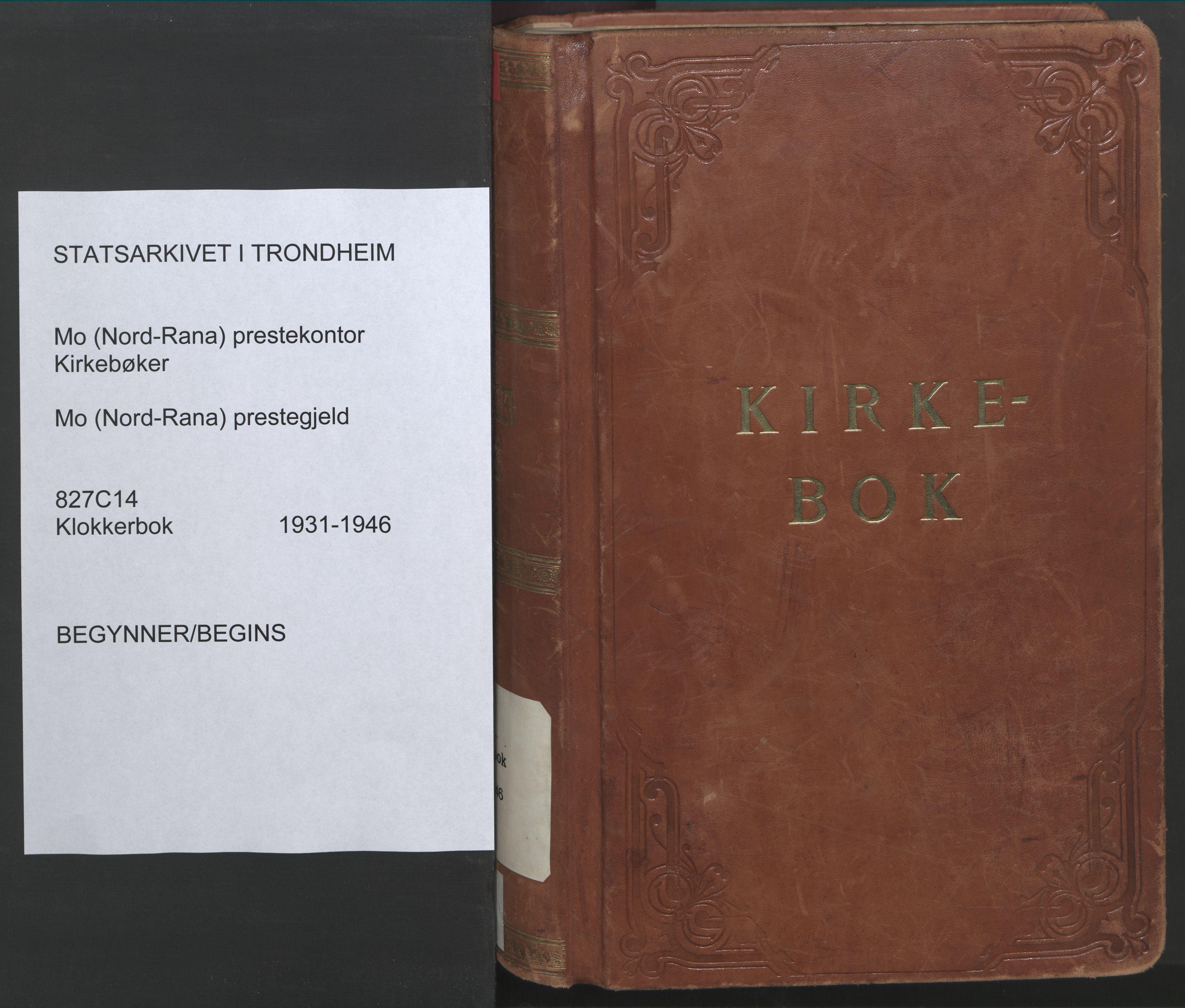 SAT, Ministerialprotokoller, klokkerbøker og fødselsregistre - Nordland, 827/L0425: Klokkerbok nr. 827C14, 1931-1946