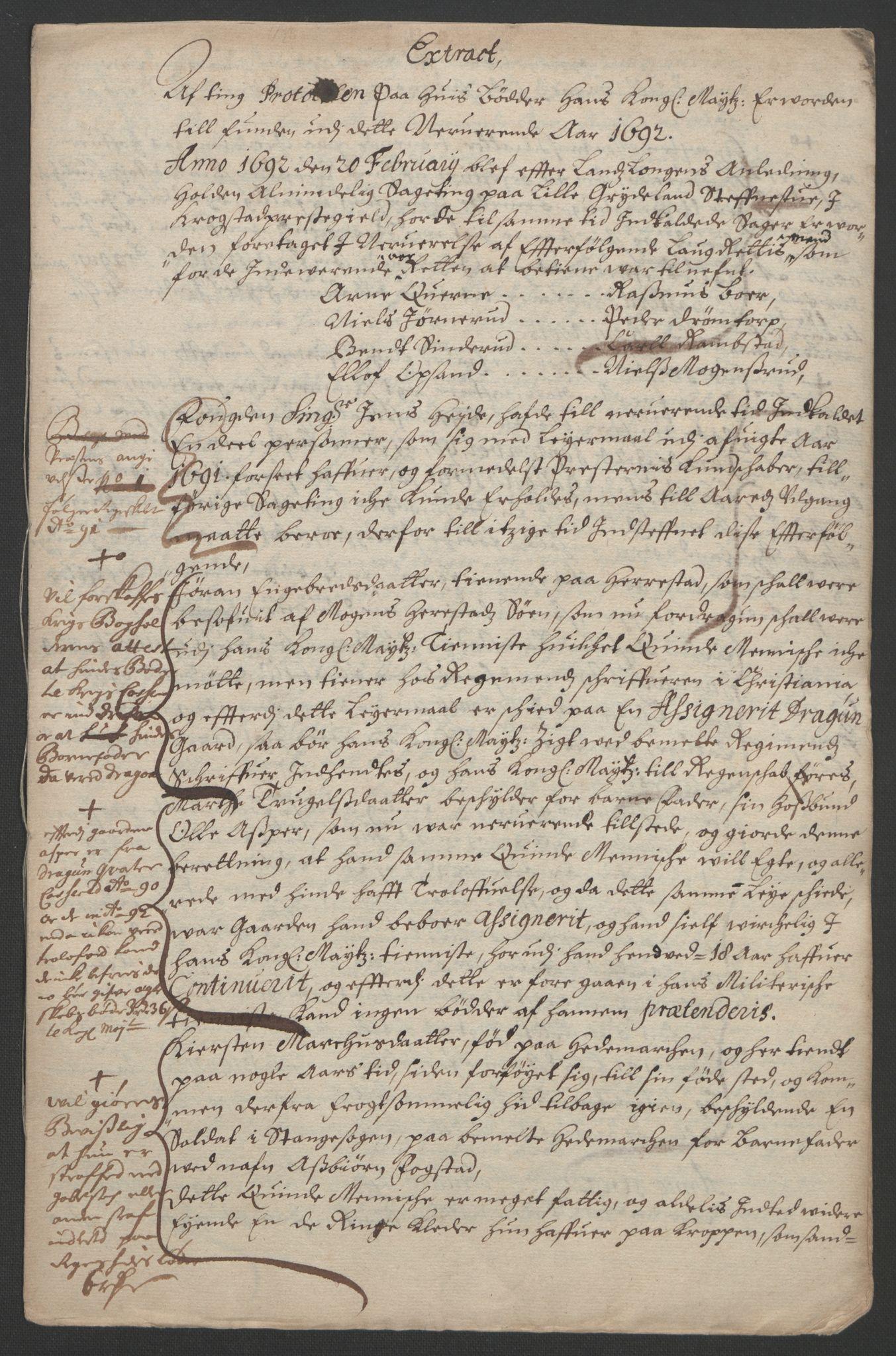 RA, Rentekammeret inntil 1814, Reviderte regnskaper, Fogderegnskap, R09/L0437: Fogderegnskap Follo, 1692-1693, s. 22