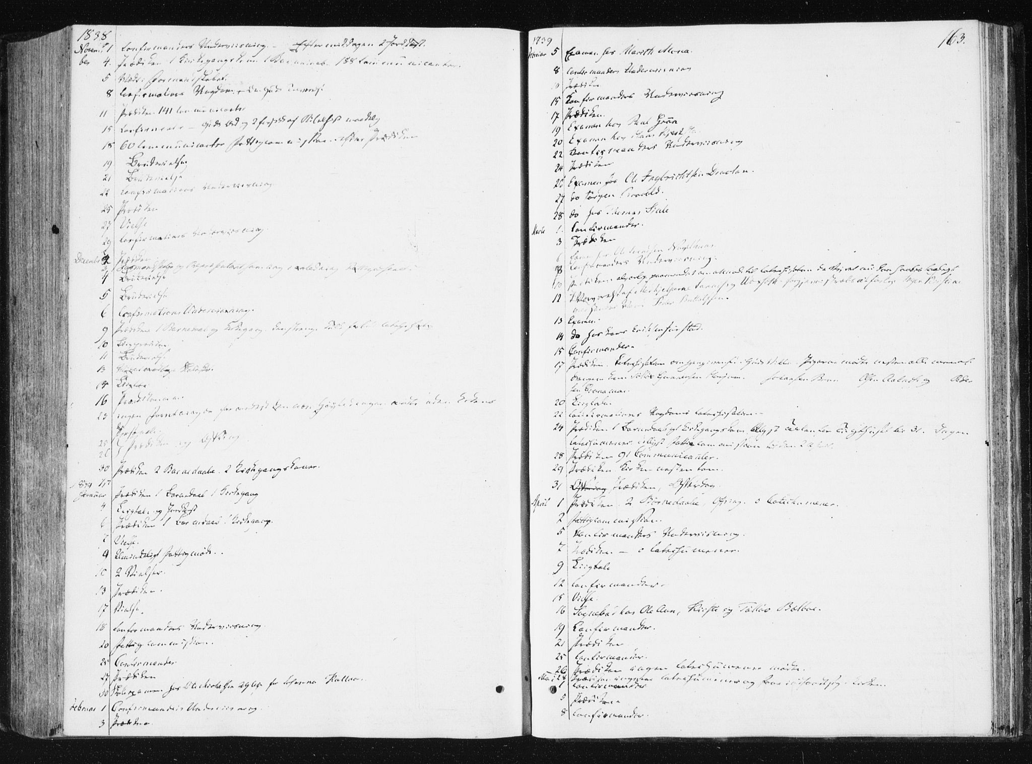 SAT, Ministerialprotokoller, klokkerbøker og fødselsregistre - Nord-Trøndelag, 749/L0470: Ministerialbok nr. 749A04, 1834-1853, s. 163