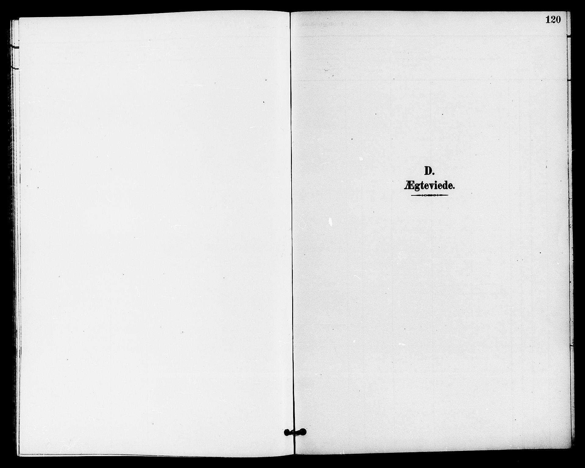 SAKO, Bø kirkebøker, G/Ga/L0006: Klokkerbok nr. 6, 1898-1909, s. 120
