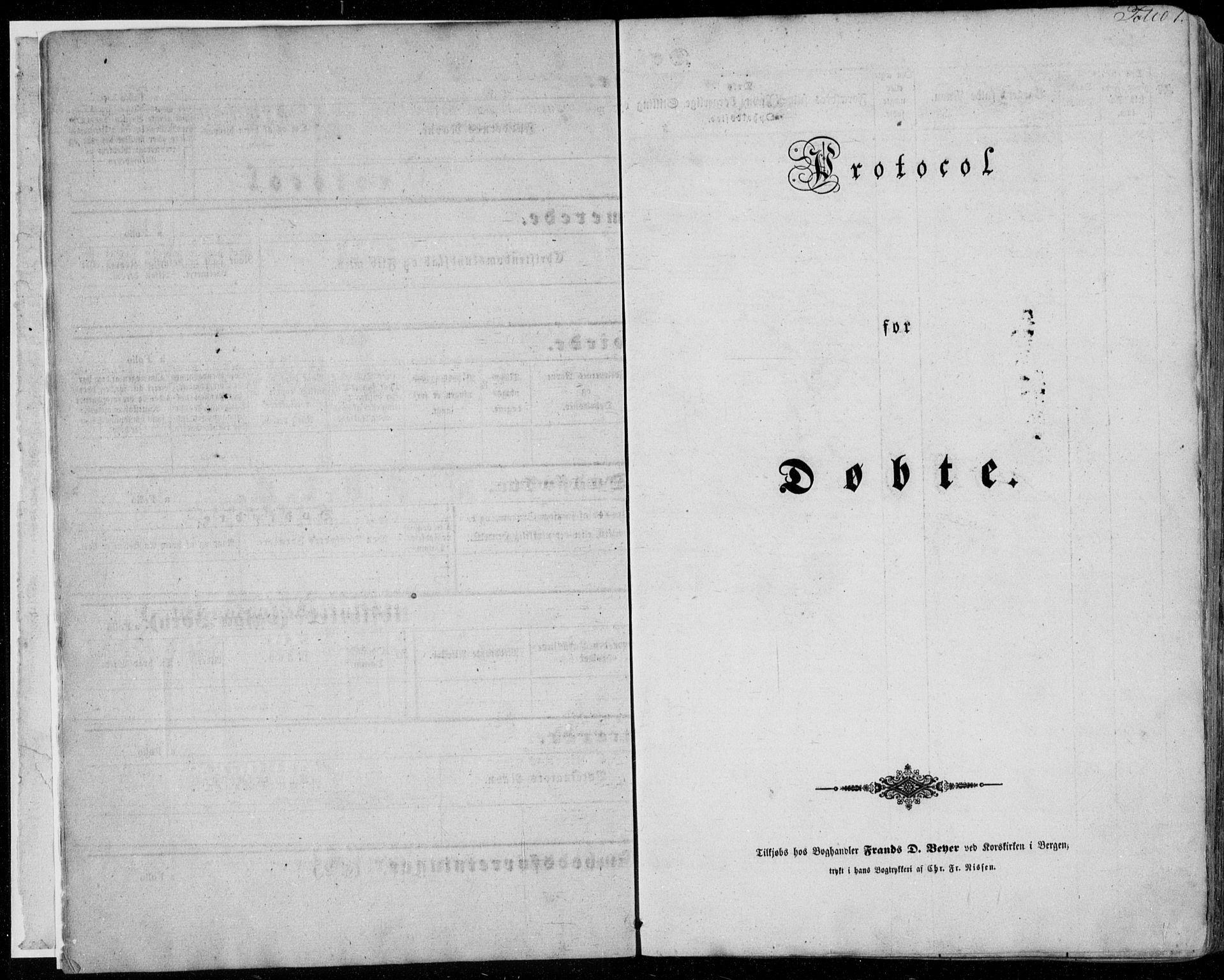 SAB, Manger sokneprestembete, H/Haa: Ministerialbok nr. A 6, 1849-1859, s. 1