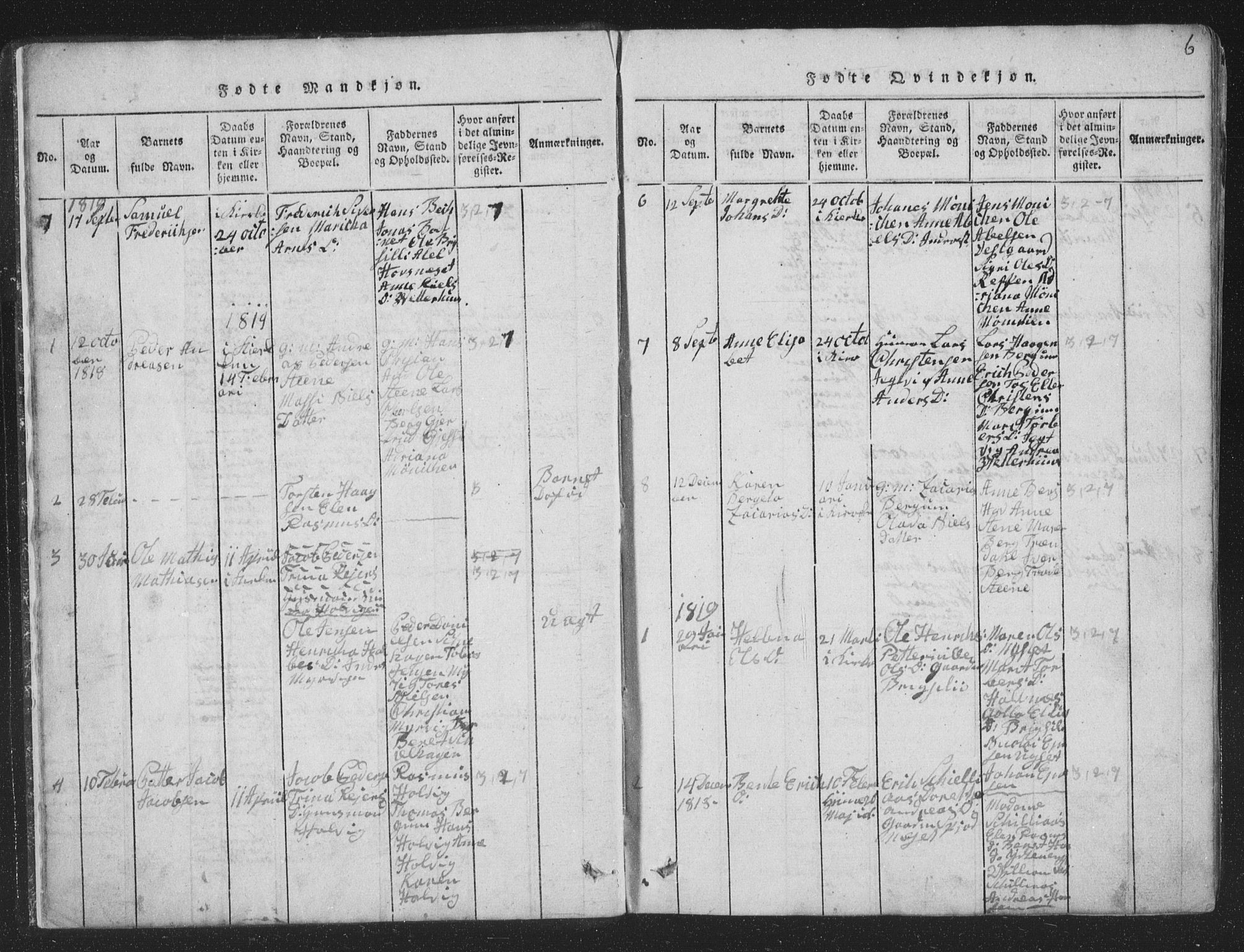 SAT, Ministerialprotokoller, klokkerbøker og fødselsregistre - Nord-Trøndelag, 773/L0613: Ministerialbok nr. 773A04, 1815-1845, s. 6