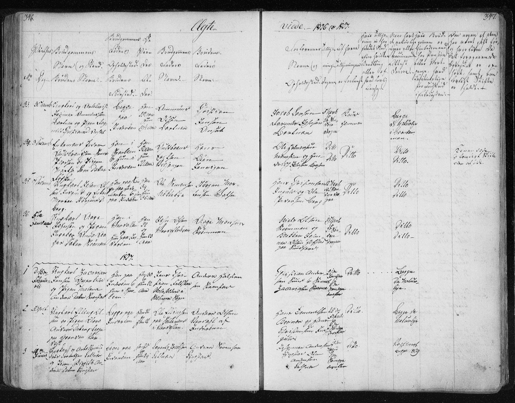 SAT, Ministerialprotokoller, klokkerbøker og fødselsregistre - Nord-Trøndelag, 730/L0276: Ministerialbok nr. 730A05, 1822-1830, s. 346-347