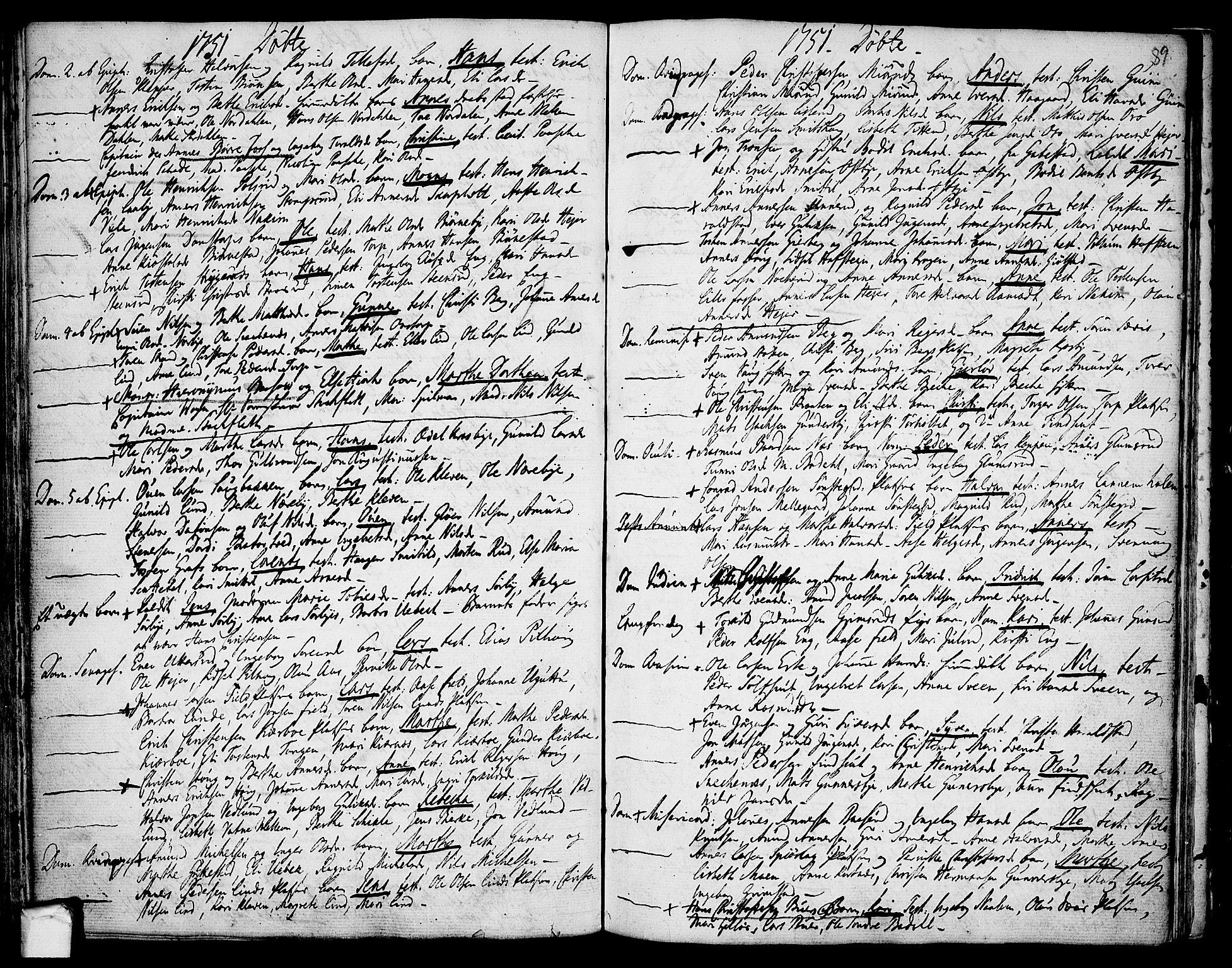 SAO, Rakkestad prestekontor Kirkebøker, F/Fa/L0002: Ministerialbok nr. I 2, 1741-1751, s. 89