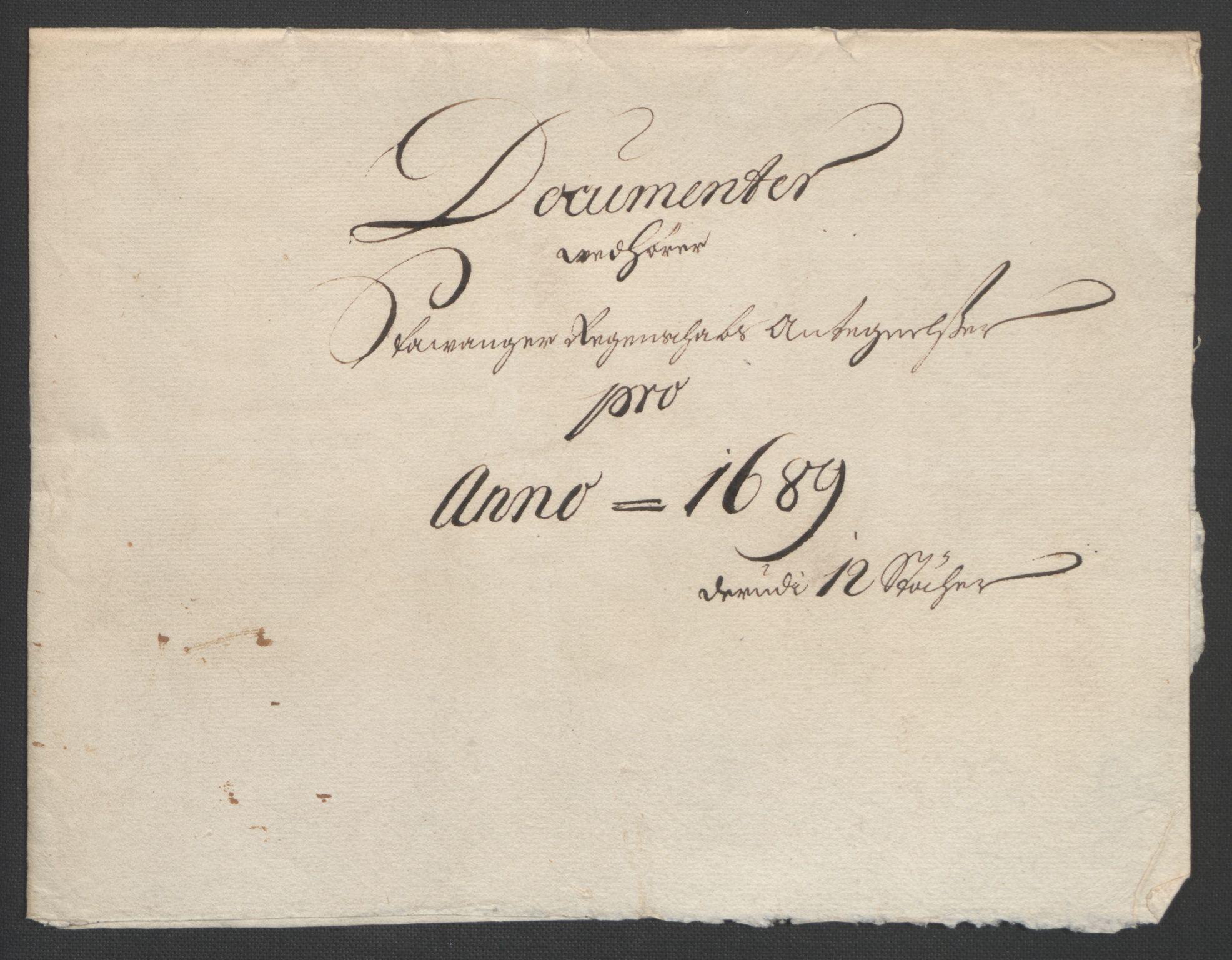 RA, Rentekammeret inntil 1814, Reviderte regnskaper, Fogderegnskap, R47/L2856: Fogderegnskap Ryfylke, 1689-1693, s. 124