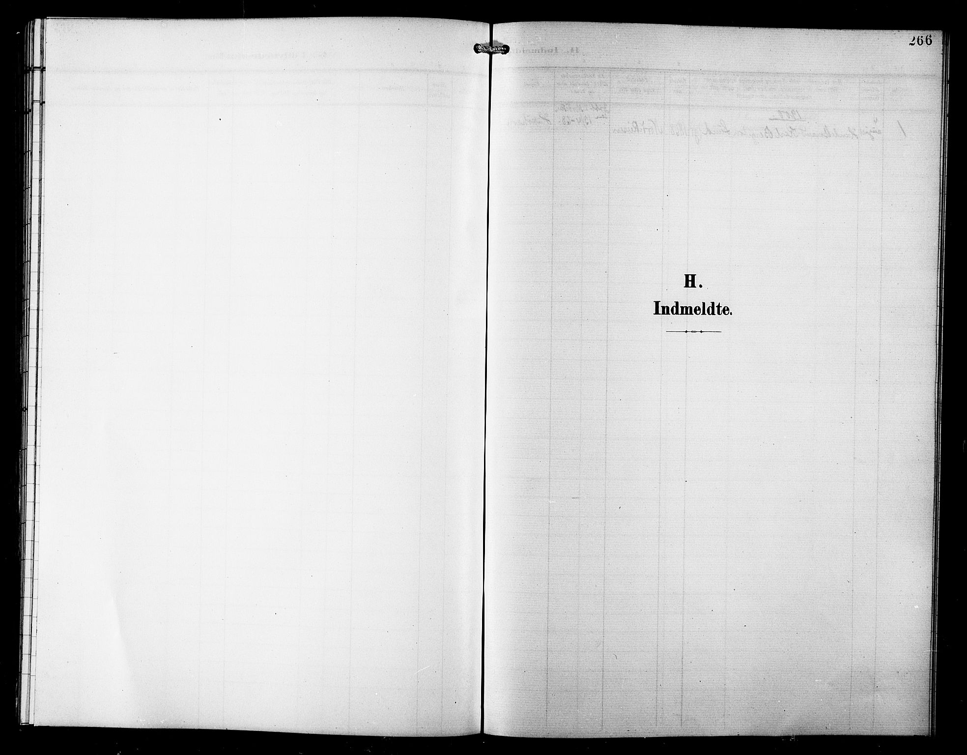 SATØ, Skjervøy sokneprestkontor, H/Ha/Hab/L0008klokker: Klokkerbok nr. 8, 1900-1910, s. 266