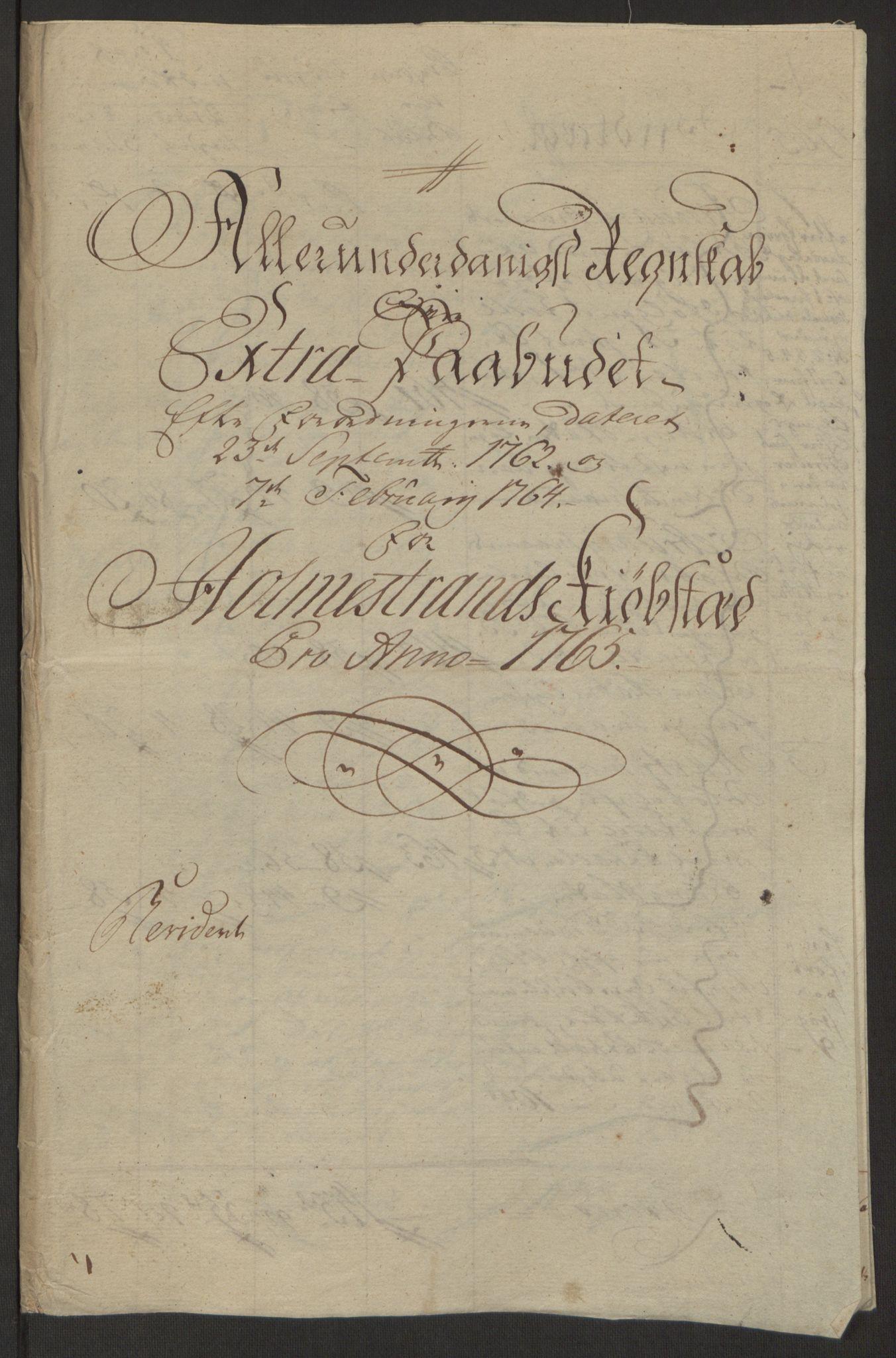 RA, Rentekammeret inntil 1814, Reviderte regnskaper, Byregnskaper, R/Rh/L0163: [H4] Kontribusjonsregnskap, 1762-1772, s. 181
