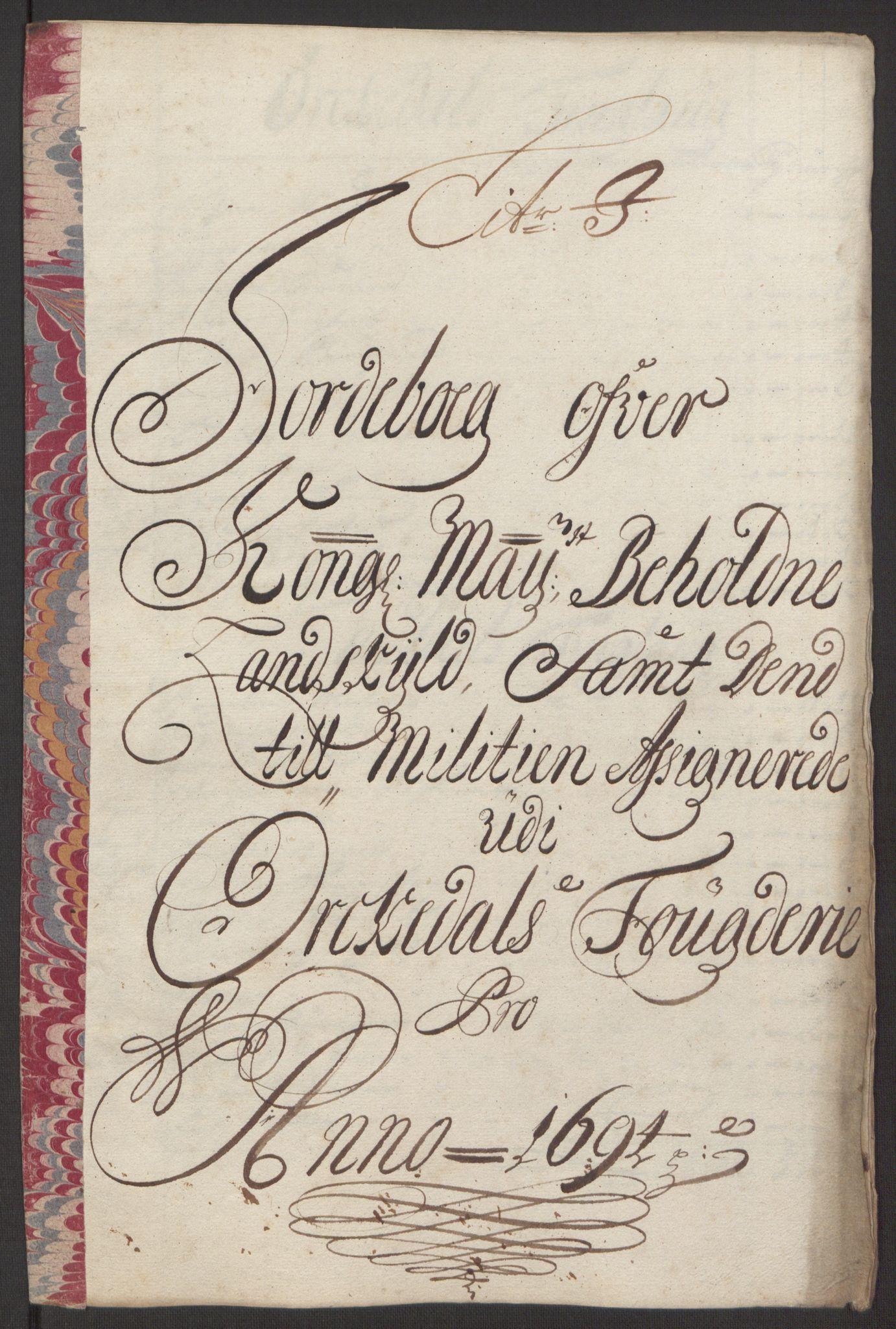 RA, Rentekammeret inntil 1814, Reviderte regnskaper, Fogderegnskap, R60/L3944: Fogderegnskap Orkdal og Gauldal, 1694, s. 128
