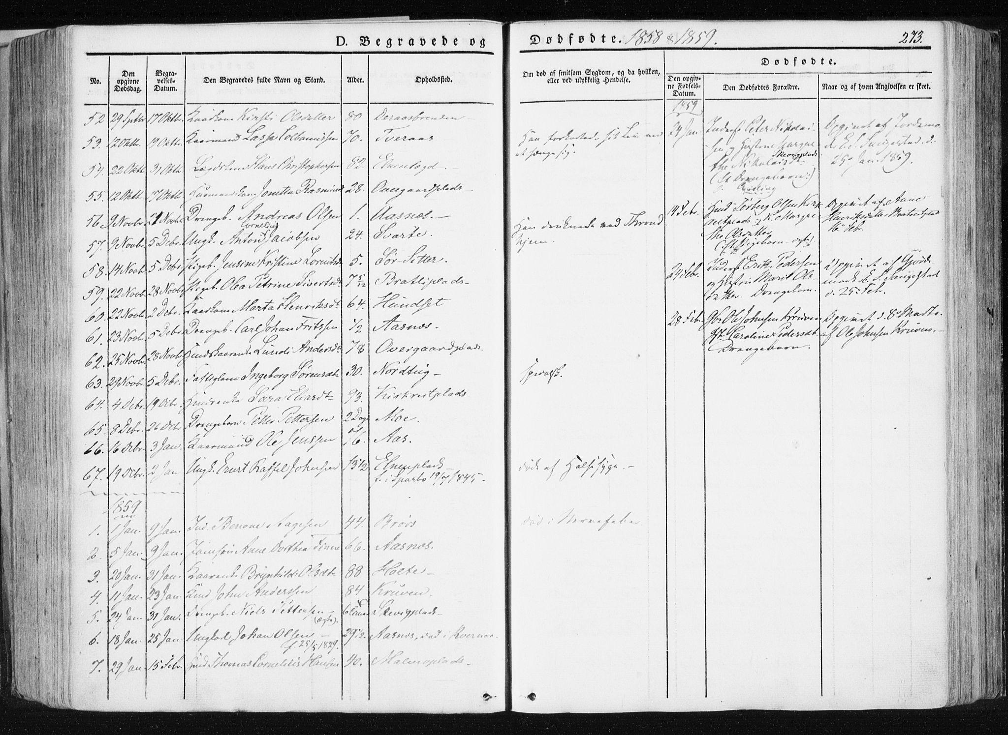 SAT, Ministerialprotokoller, klokkerbøker og fødselsregistre - Nord-Trøndelag, 741/L0393: Ministerialbok nr. 741A07, 1849-1863, s. 273