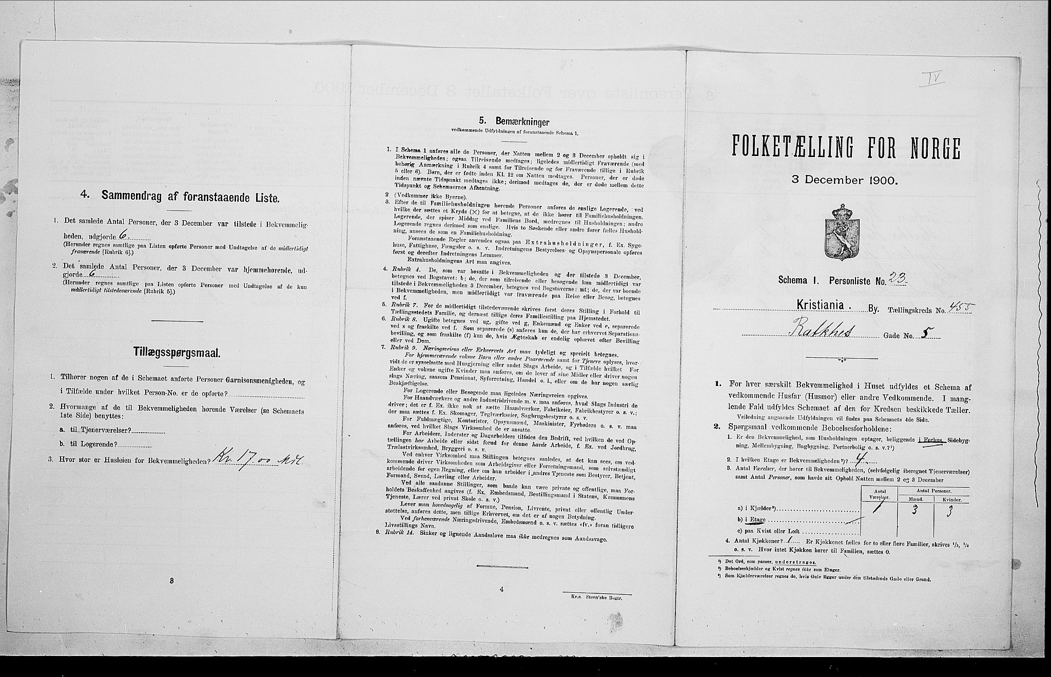 SAO, Folketelling 1900 for 0301 Kristiania kjøpstad, 1900, s. 73921