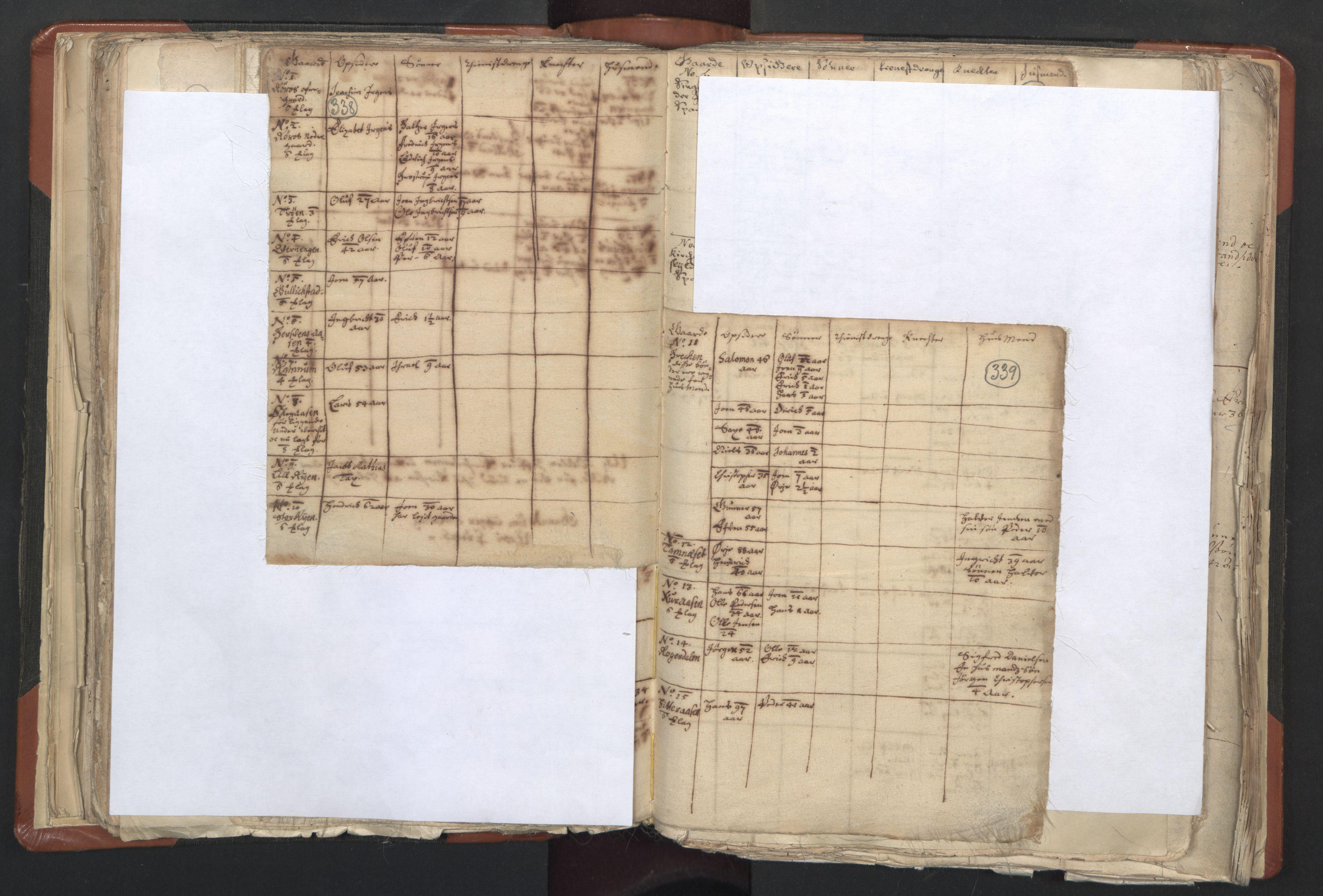 RA, Sogneprestenes manntall 1664-1666, nr. 31: Dalane prosti, 1664-1666, s. 338-339