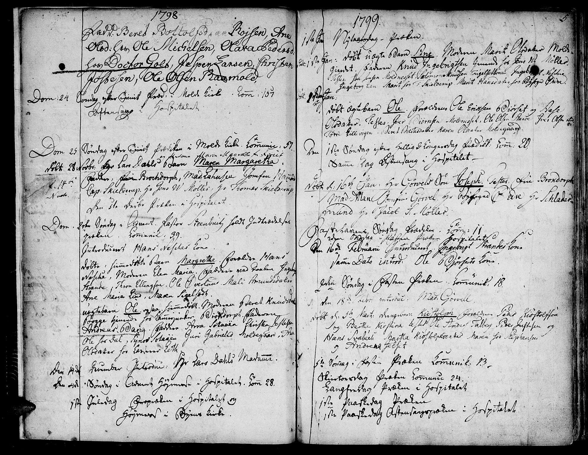 SAT, Ministerialprotokoller, klokkerbøker og fødselsregistre - Møre og Romsdal, 558/L0687: Ministerialbok nr. 558A01, 1798-1818, s. 5