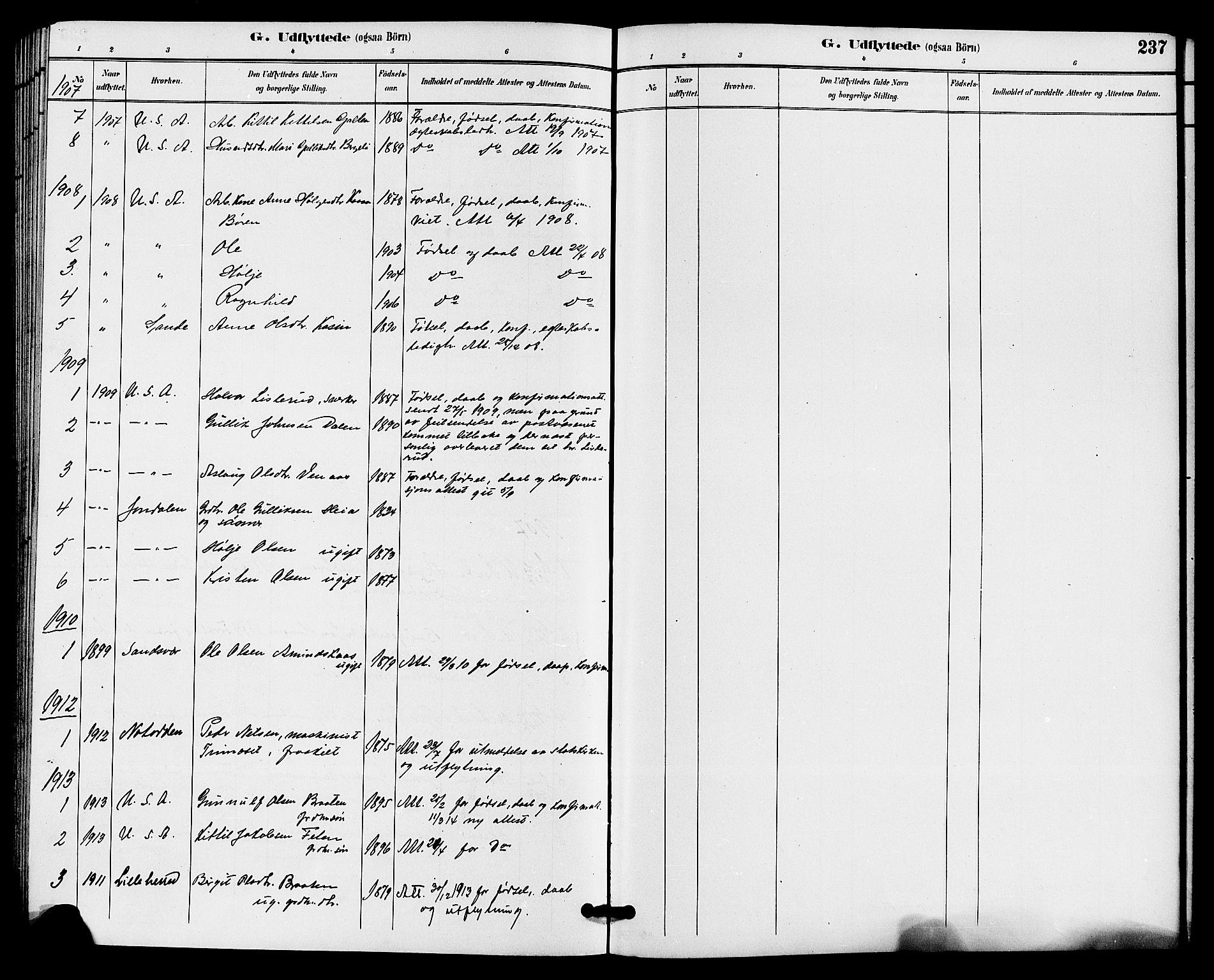 SAKO, Gransherad kirkebøker, G/Ga/L0003: Klokkerbok nr. I 3, 1887-1915, s. 237