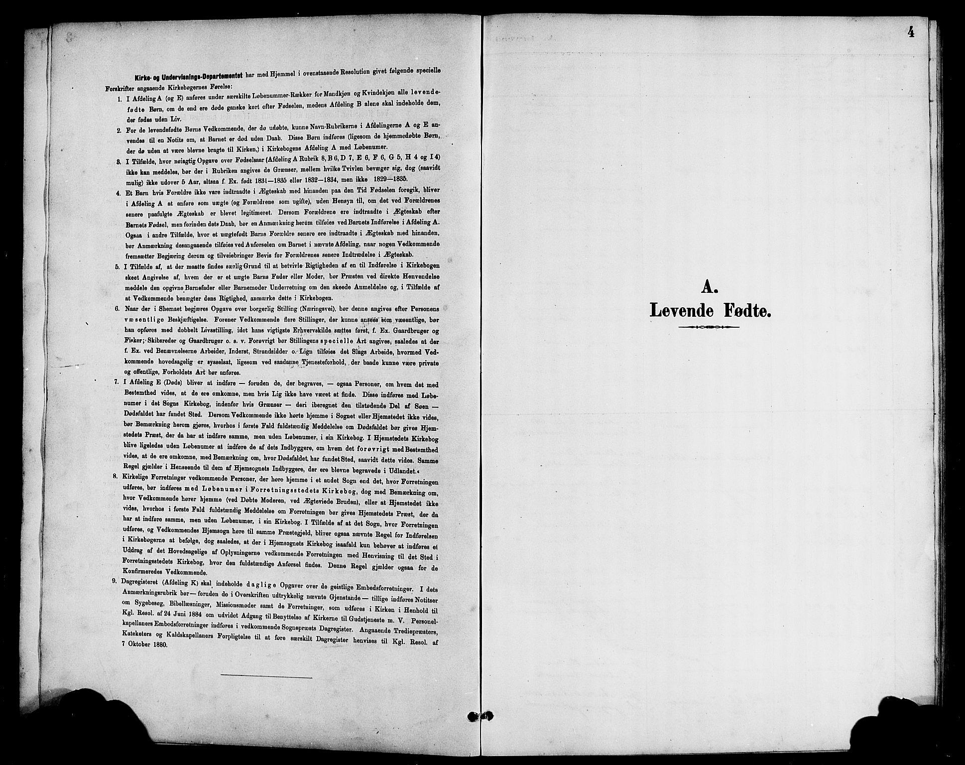 SAB, Bremanger Sokneprestembete, H/Hab: Klokkerbok nr. A 3, 1890-1908, s. 4
