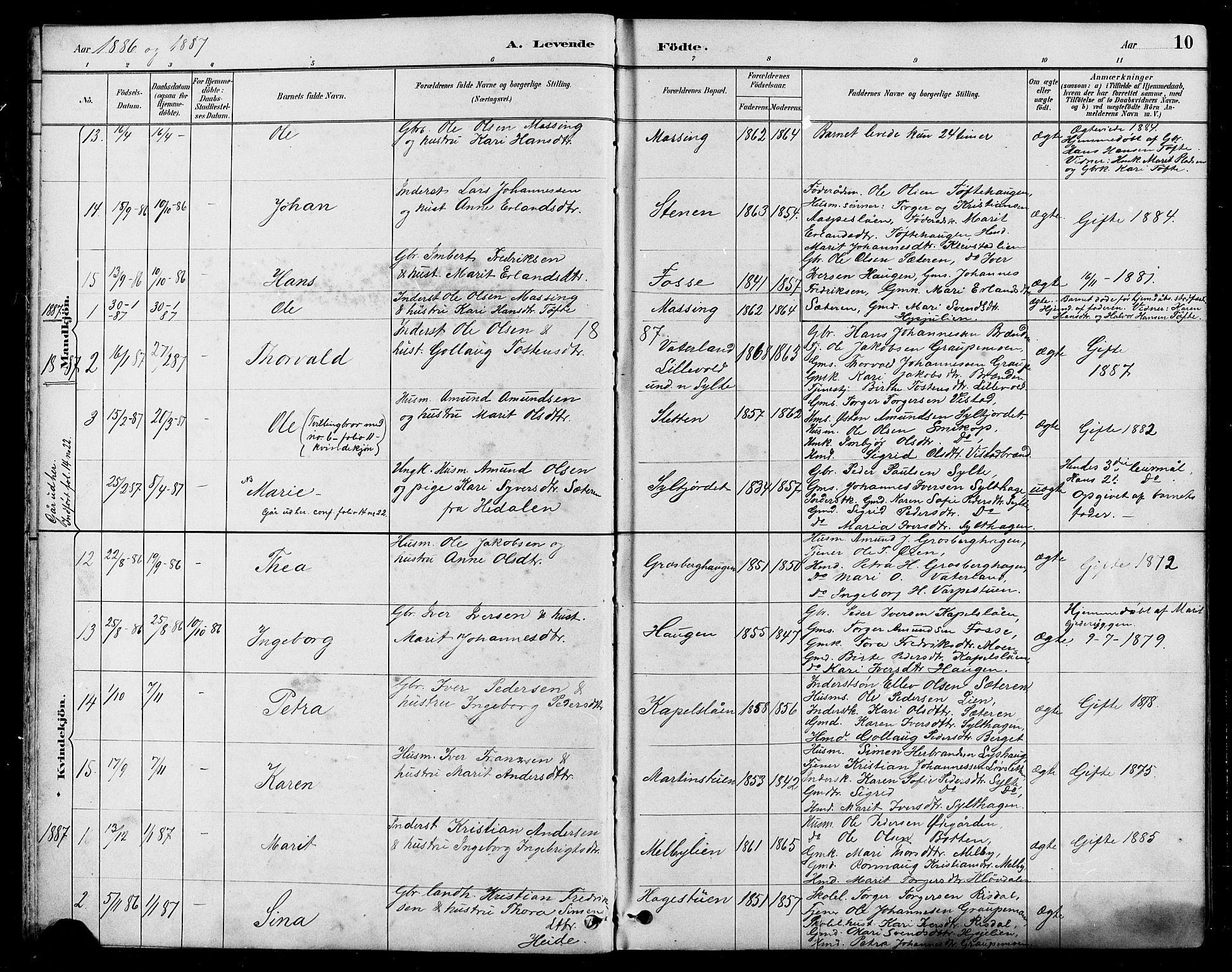 SAH, Nord-Fron prestekontor, Klokkerbok nr. 5, 1884-1914, s. 10