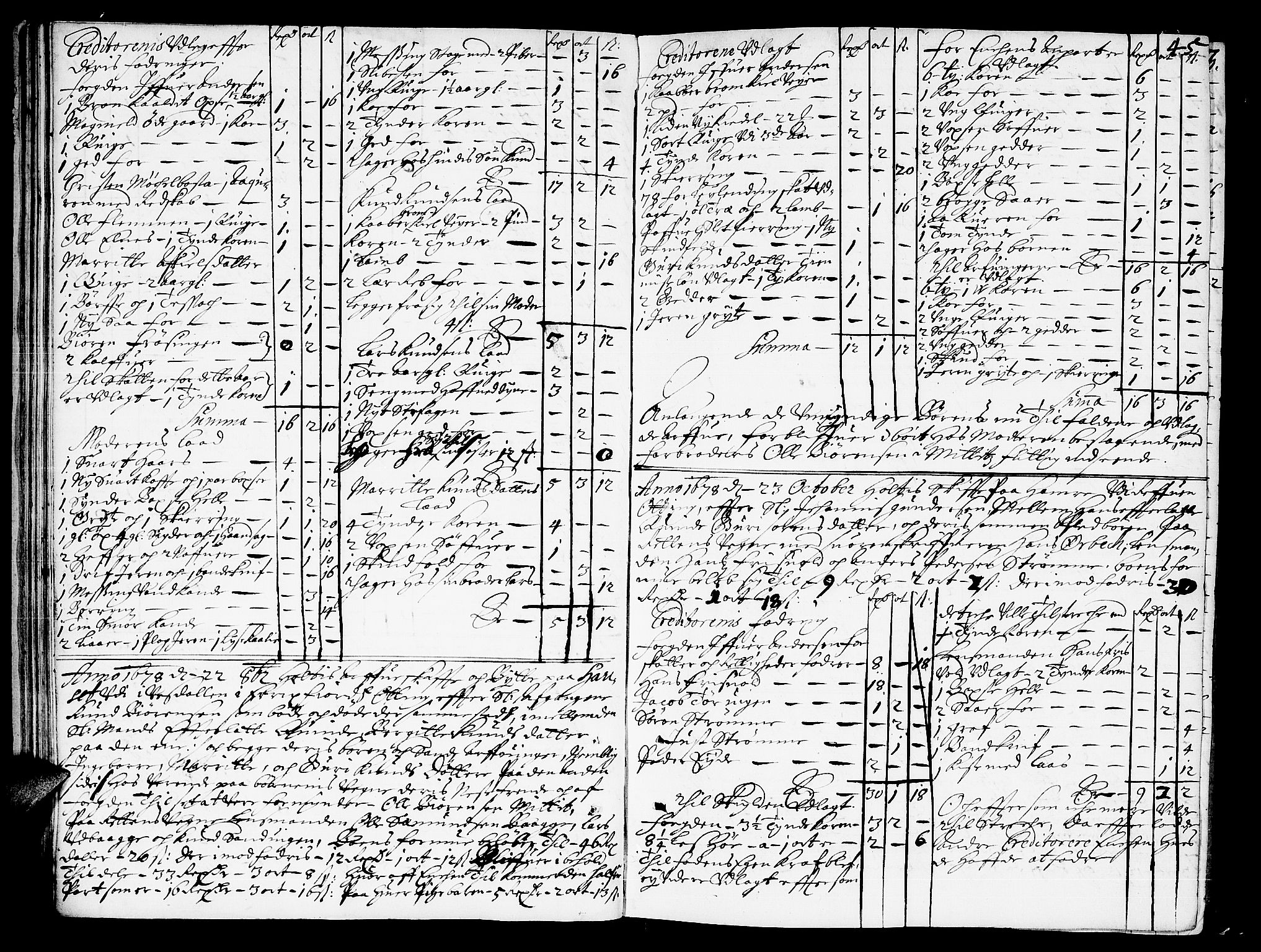 SAT, Romsdal sorenskriveri, 3/3A/L0001: Skifteprotokoll, 1677-1683, s. 44b-45a