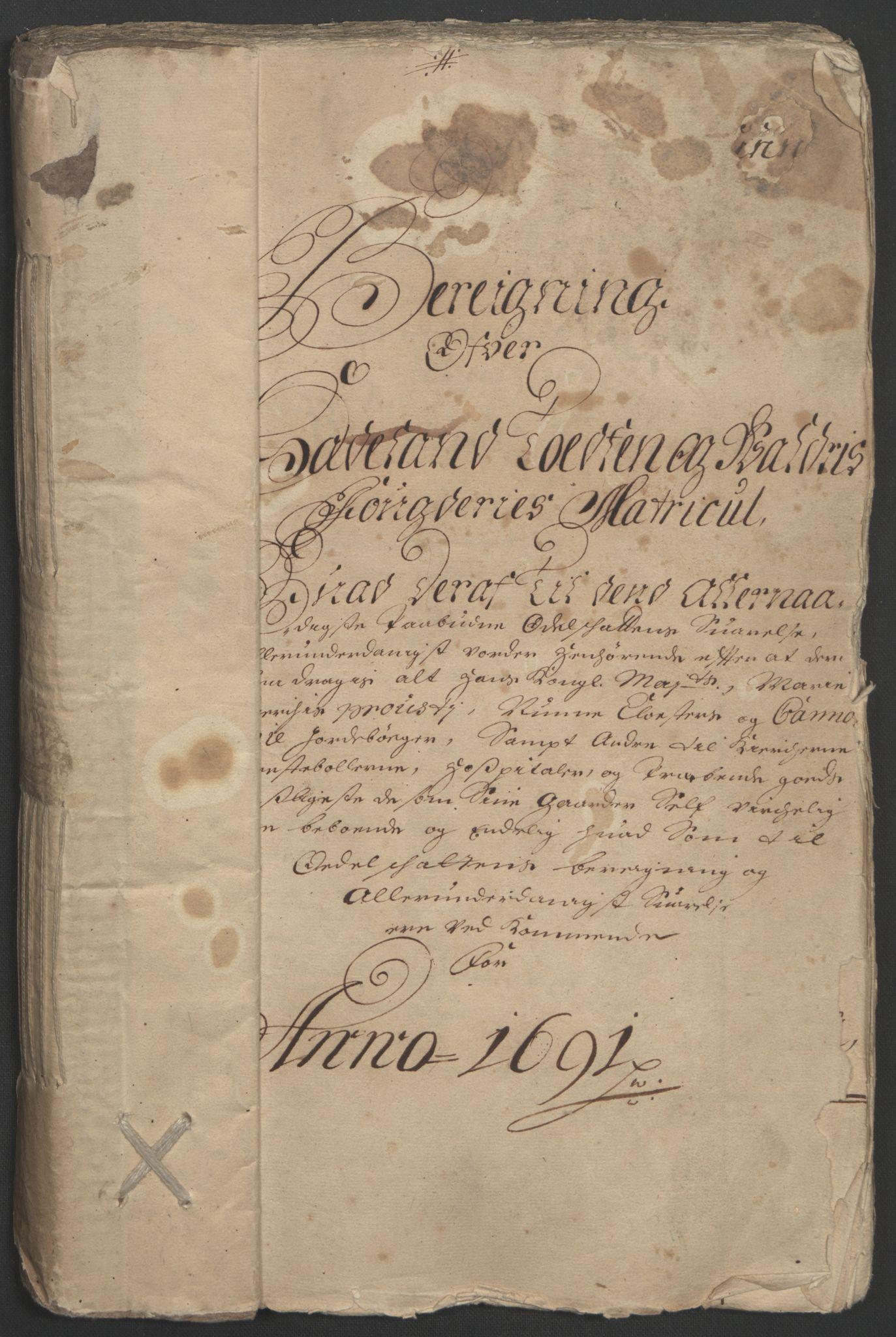 RA, Rentekammeret inntil 1814, Reviderte regnskaper, Fogderegnskap, R18/L1290: Fogderegnskap Hadeland, Toten og Valdres, 1691, s. 66