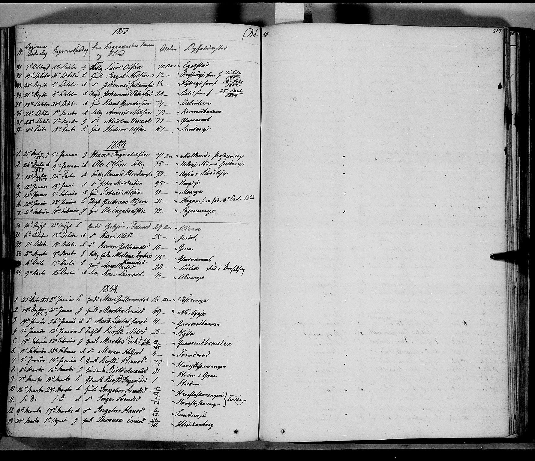 SAH, Jevnaker prestekontor, Ministerialbok nr. 6, 1837-1857, s. 267