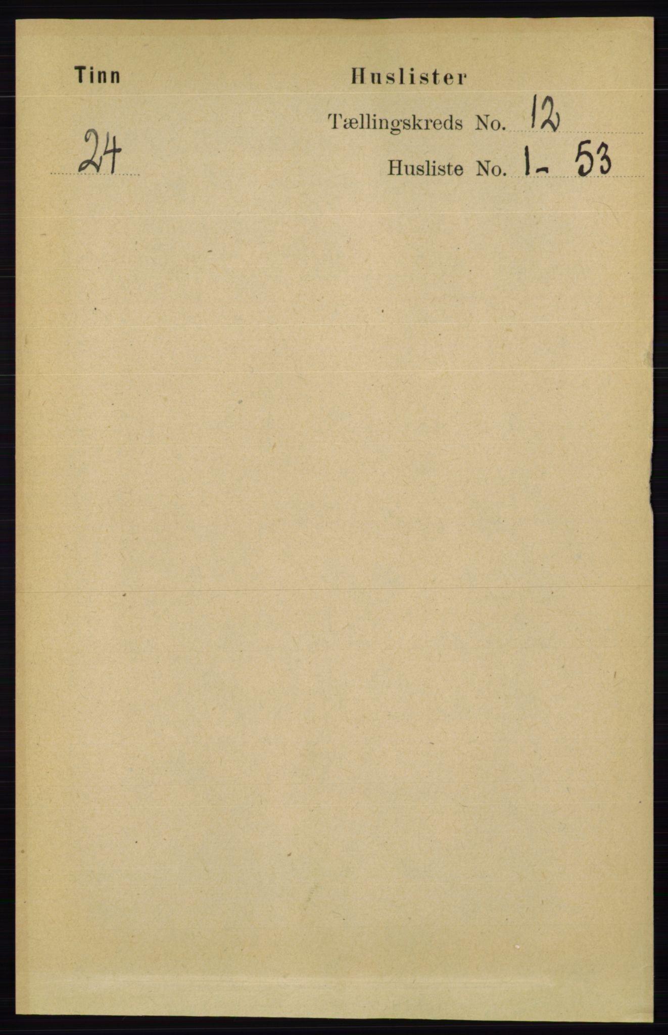 RA, Folketelling 1891 for 0826 Tinn herred, 1891, s. 2262